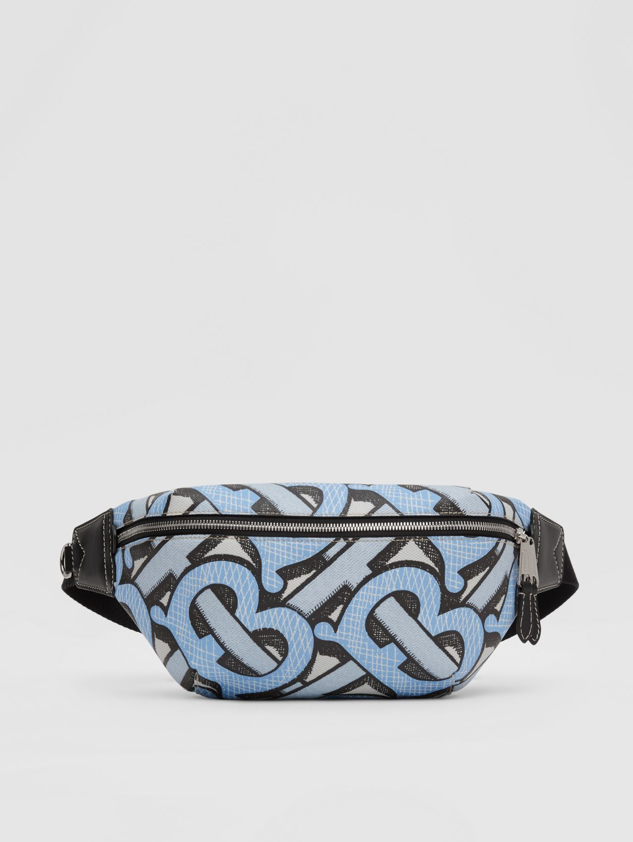 Monogram Print E-canvas Sonny Bum Bag (Pale Azure)