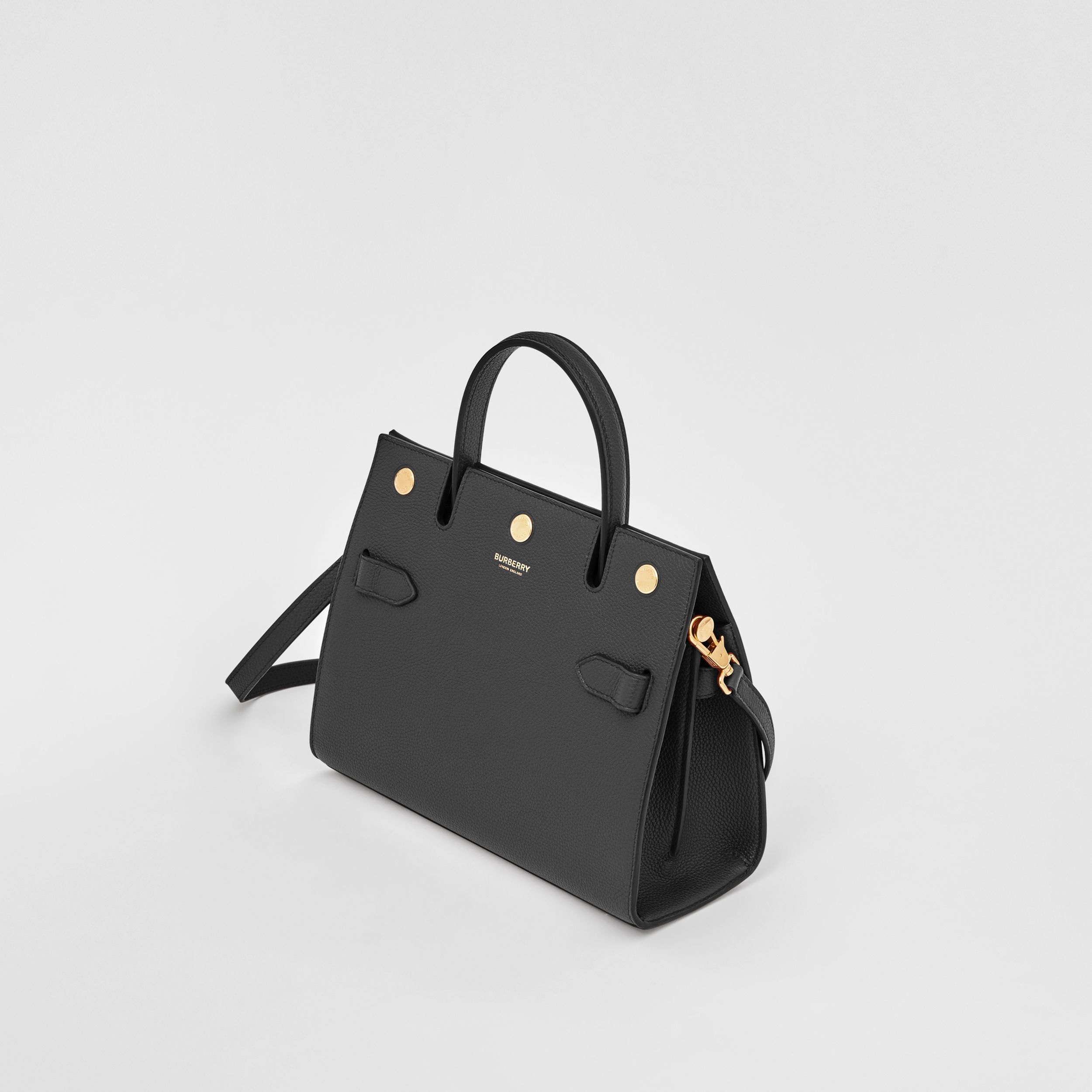 Mini Leather Title Bag in Black - Women | Burberry - 4