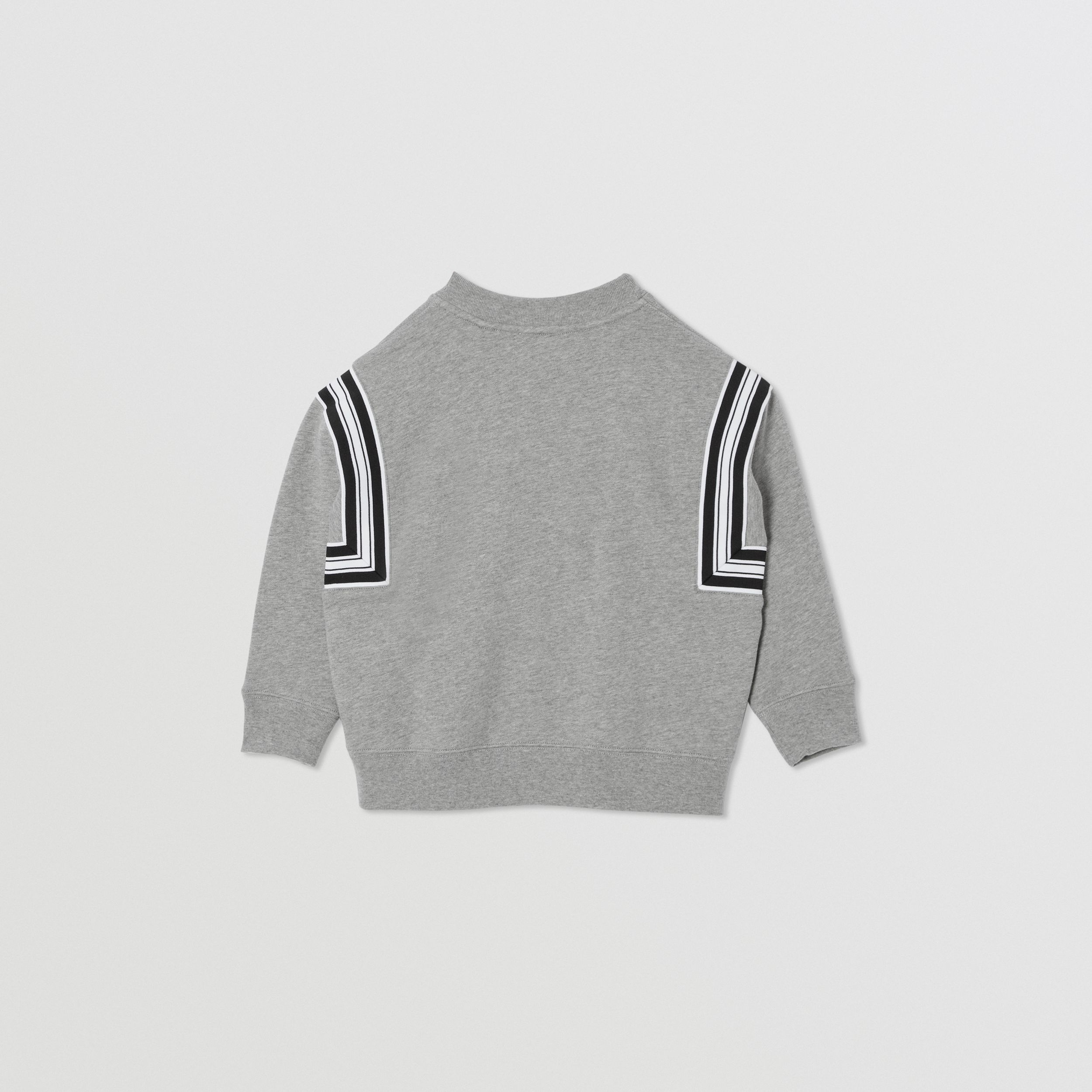 Coordinates Print Cotton Sweatshirt in Grey Melange | Burberry - 4