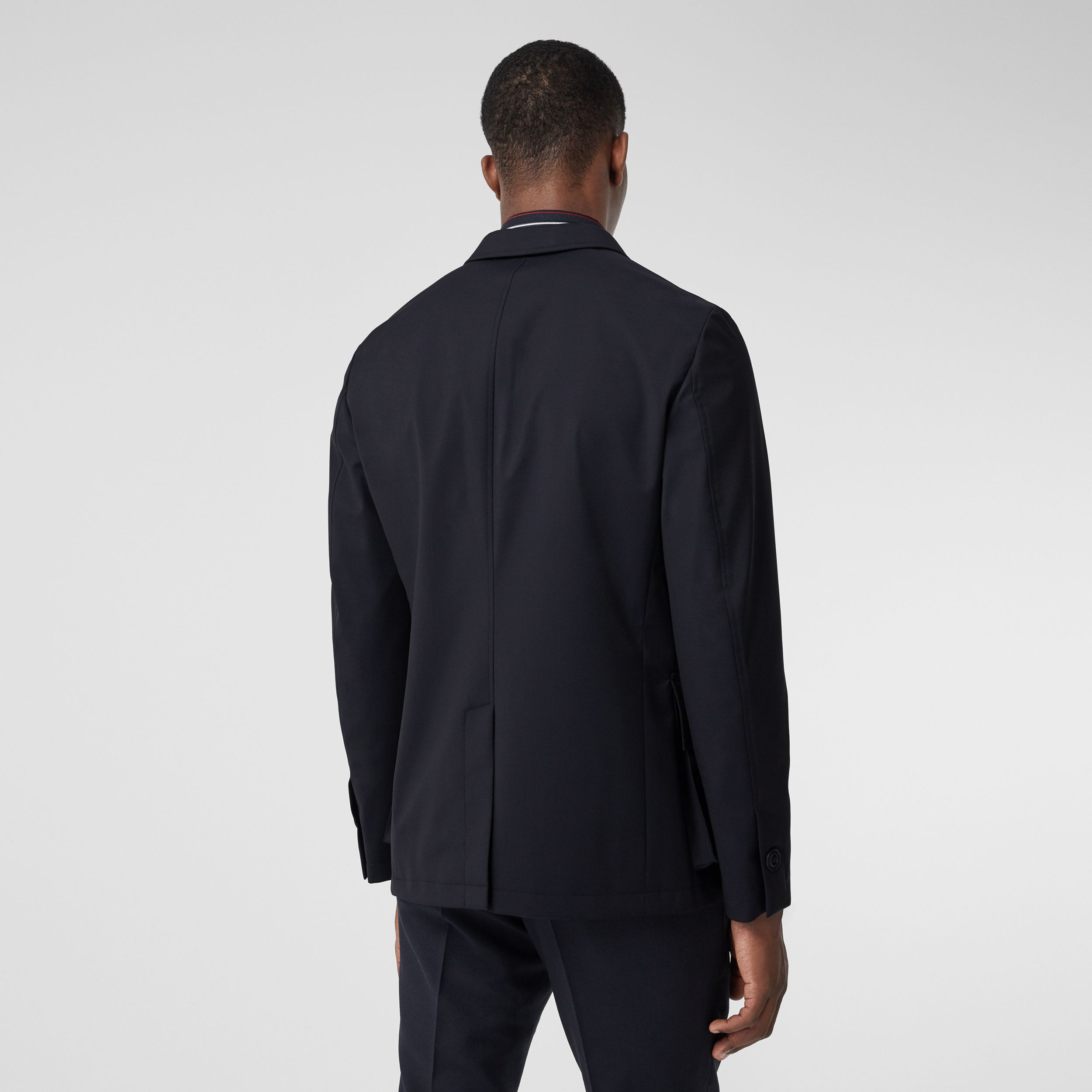 Bonded Wool Tailored Jacket in Navy - Men | Burberry Hong Kong S.A.R. - 3