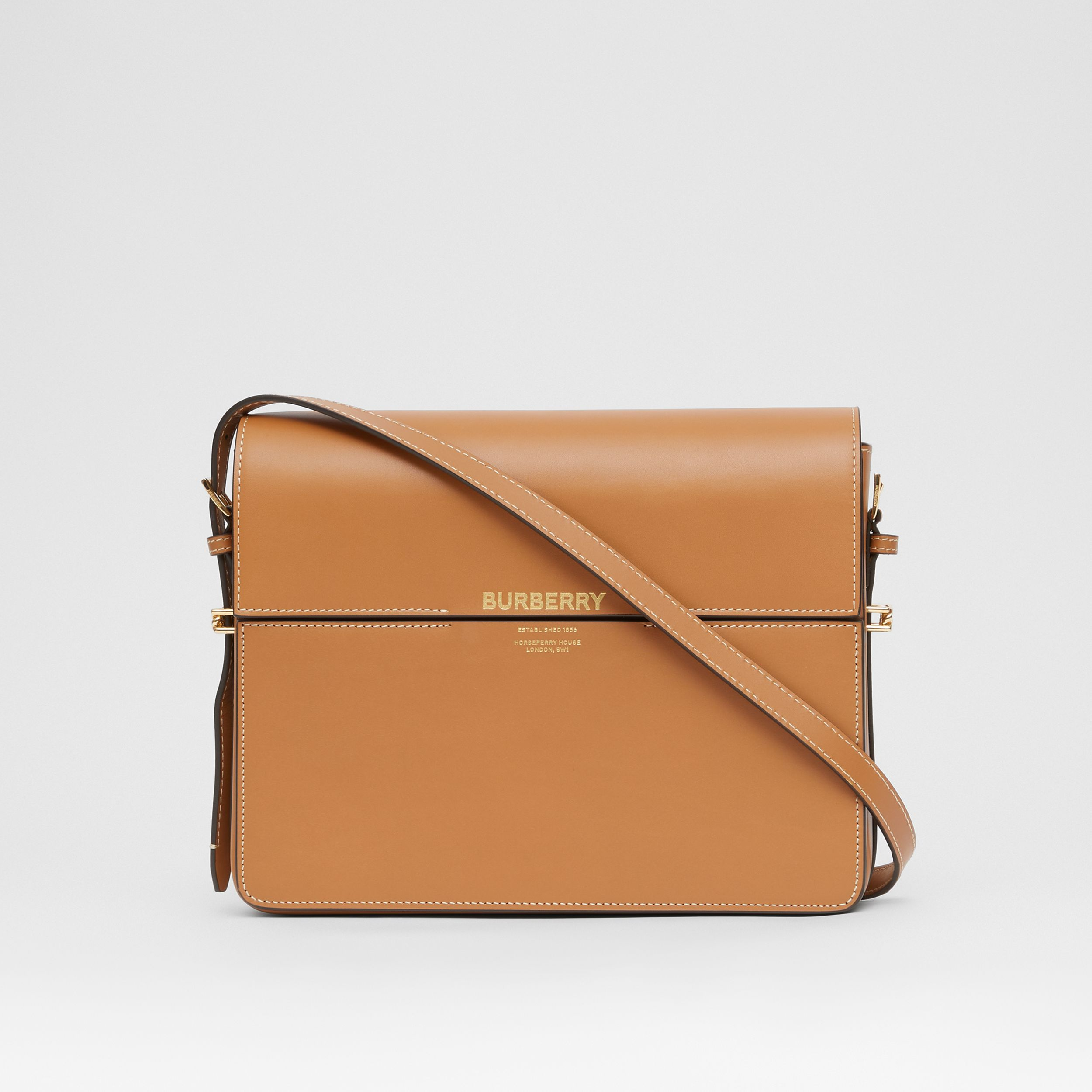 Large Leather Grace Bag in Maple Brown - Women | Burberry - 1