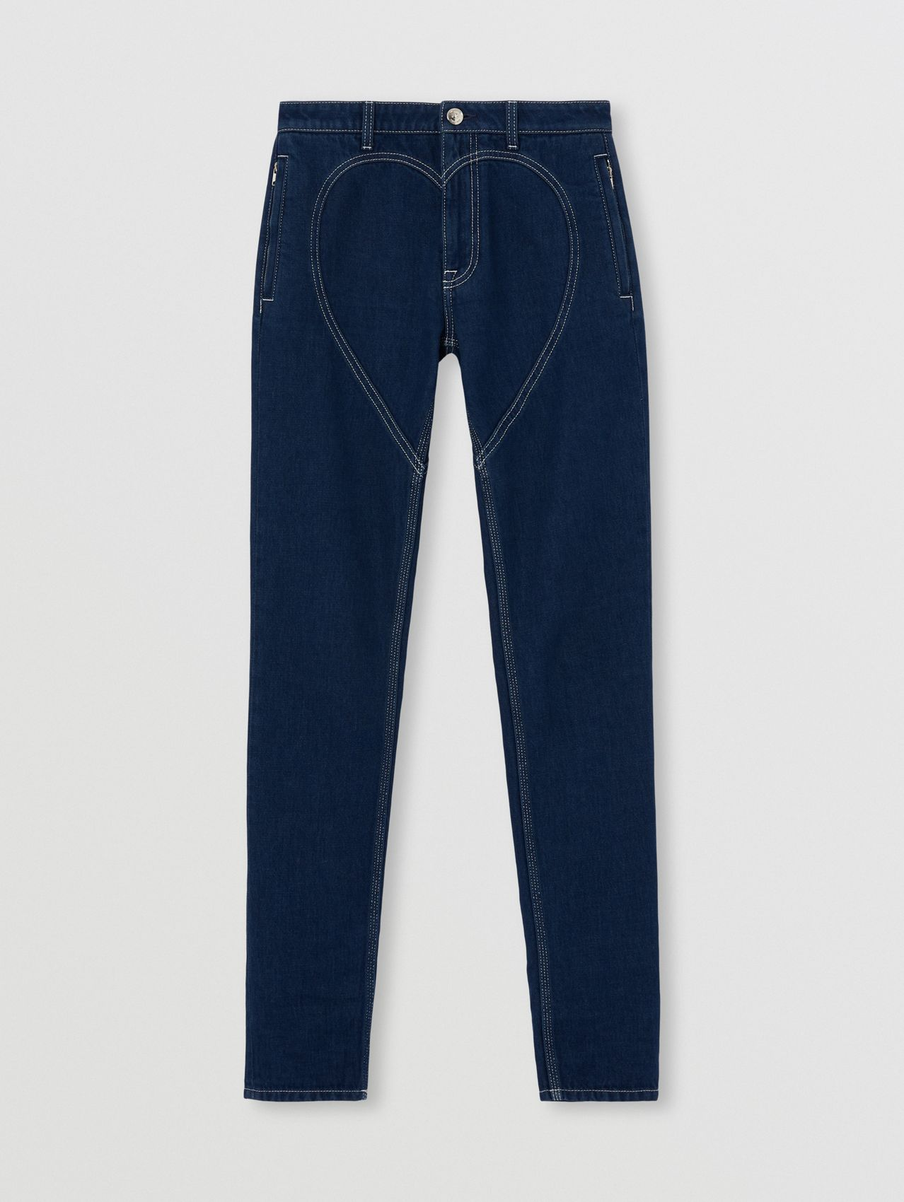 Skinny Fit Heart Motif Jeans in Midnight Navy