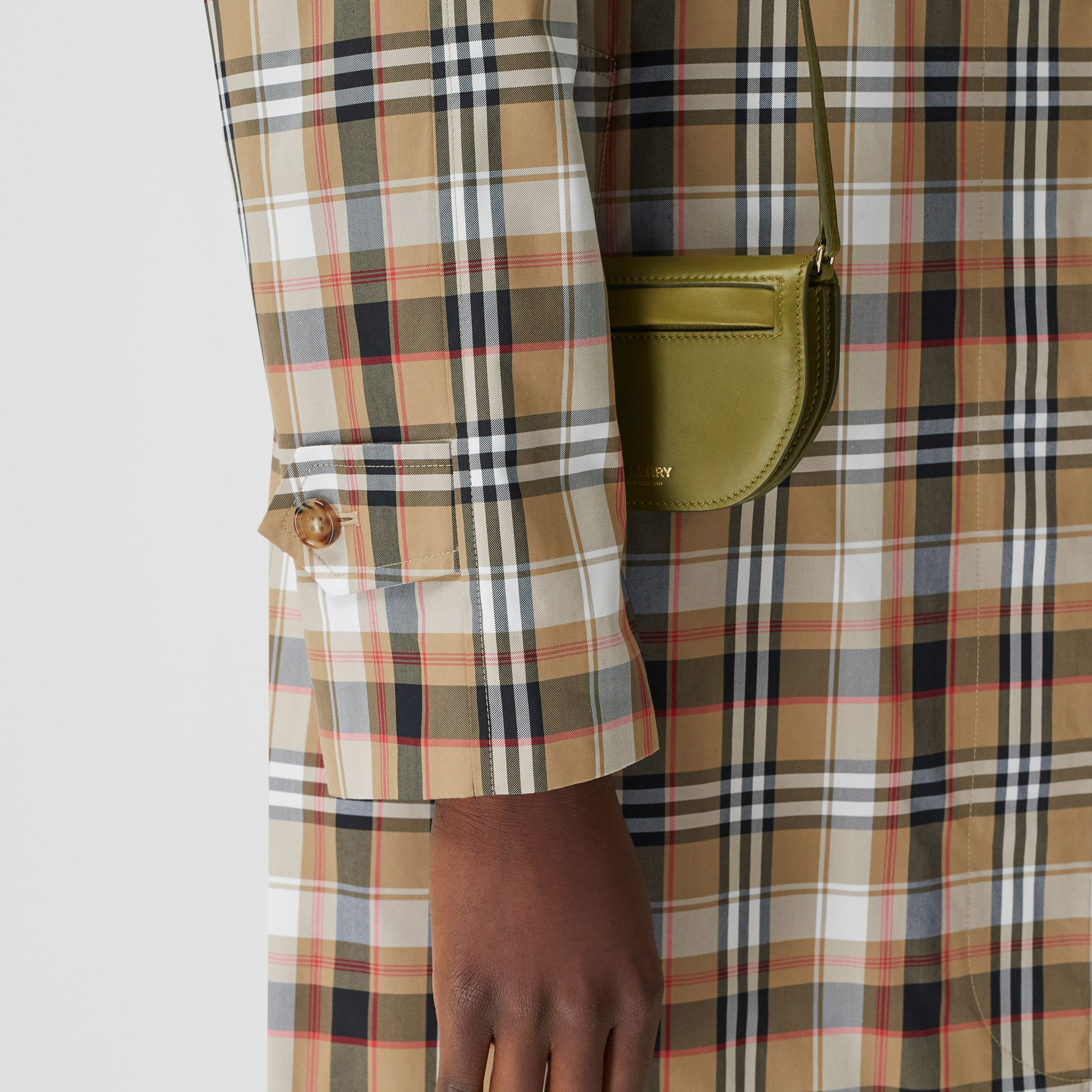 Leather Olympia Card Case with Detachable Strap in Juniper Green | Burberry Hong Kong S.A.R. - 3
