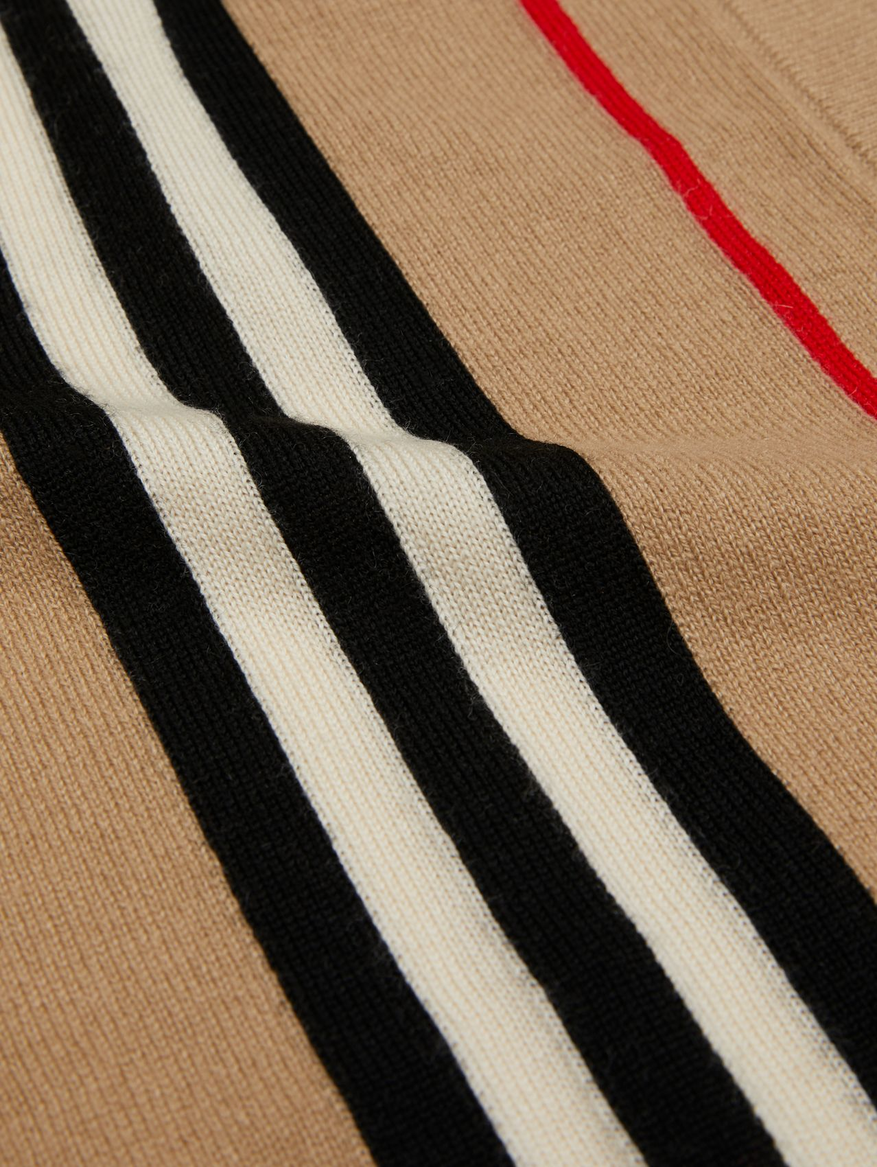 Icon Stripe Cashmere Merino Wool Baby Blanket in Archive Beige