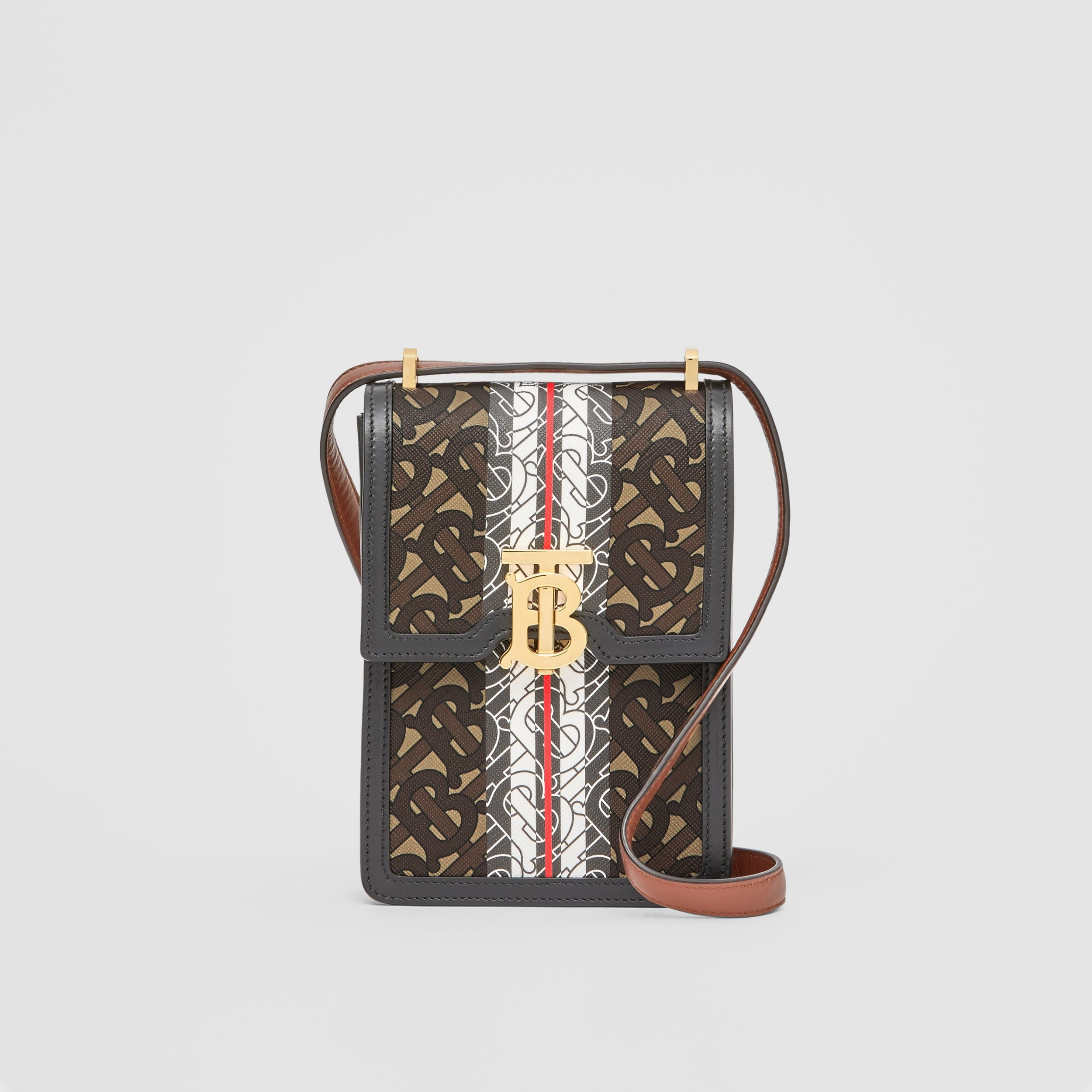 Monogram Stripe E-canvas Robin Bag - Women | Burberry - 1