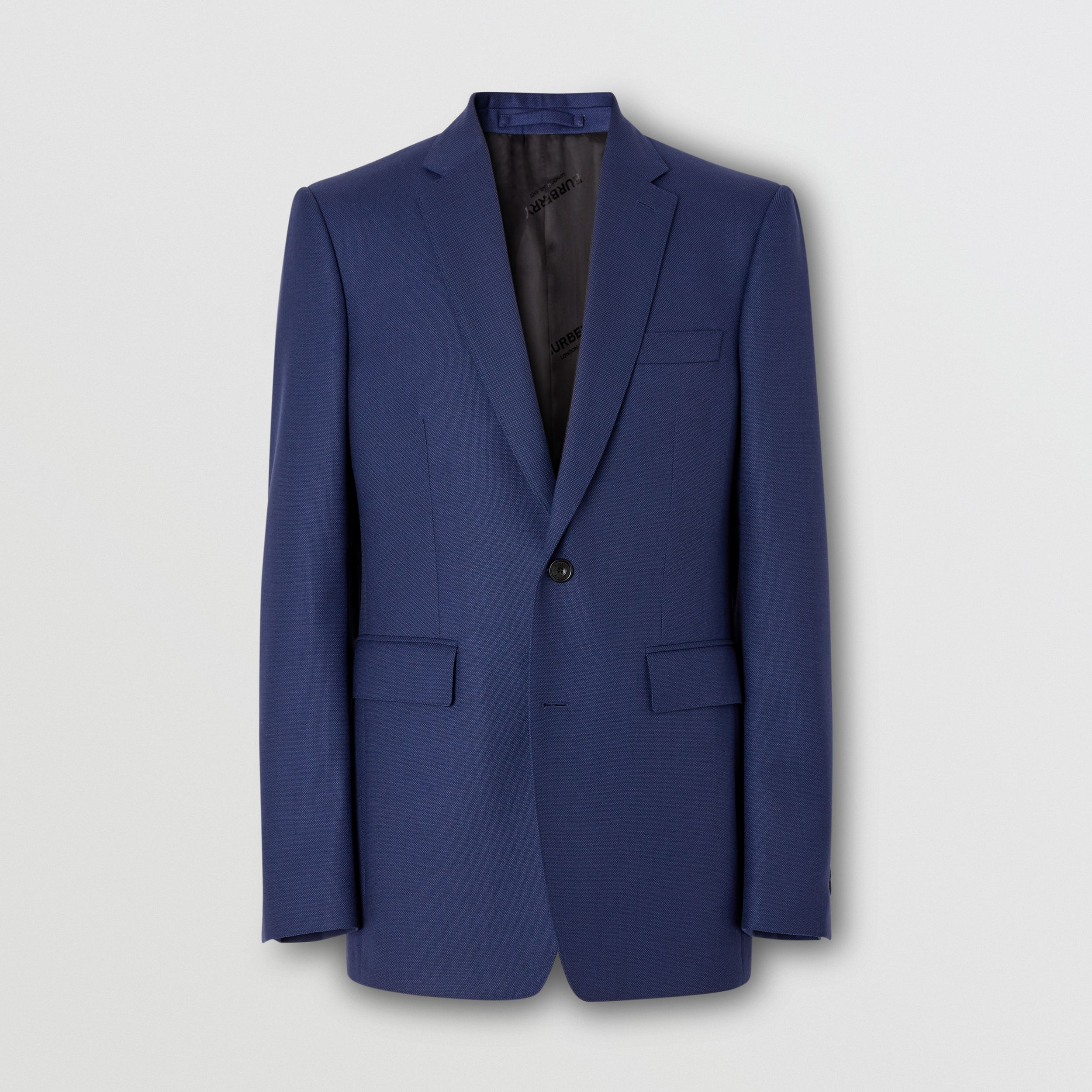 Classic Fit Birdseye Wool Tailored Jacket in Bright Navy - Men | Burberry Singapore - 4