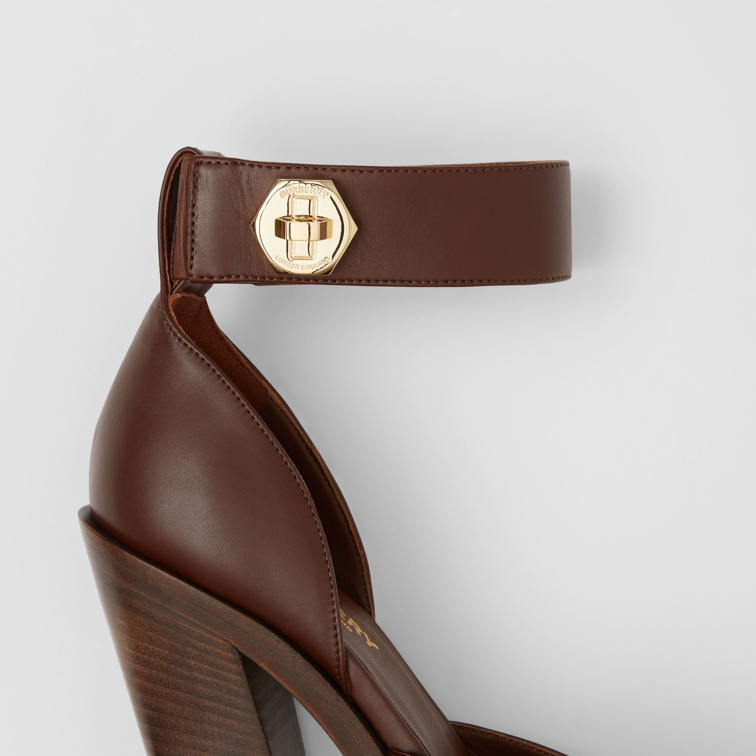 Leather Point-toe Pumps in Tan - Women | Burberry - 2