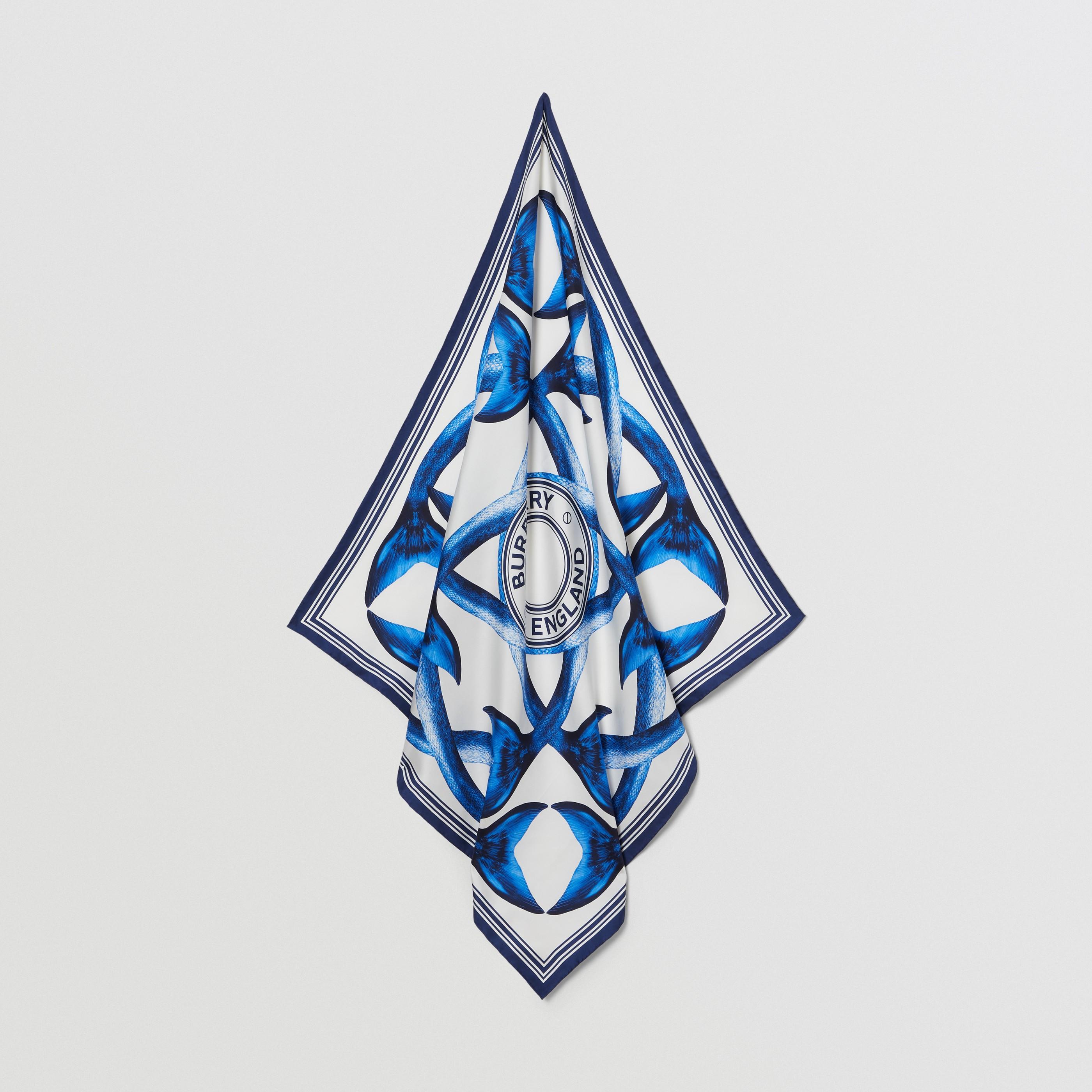 Foulard in seta con coda di sirena (Blu Inchiostro) | Burberry - 5