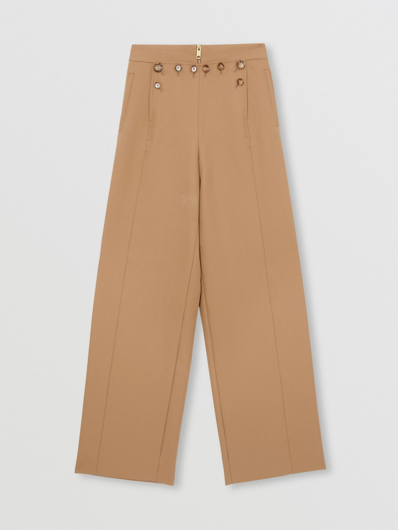 Cotton Twill Sailor Trousers in Camel