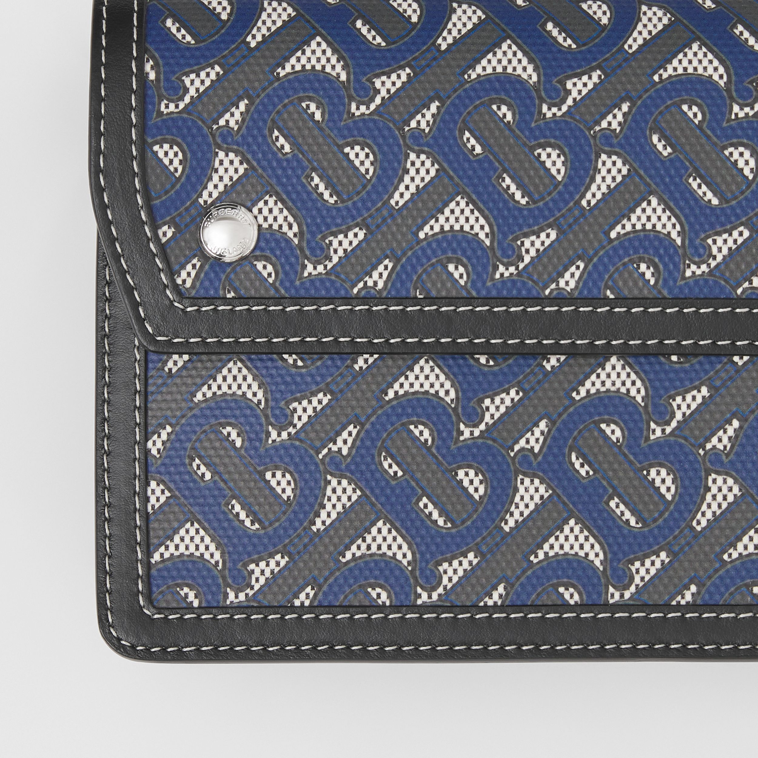 Monogram Print Canvas and Leather Crossbody Bag in Ink Blue - Men | Burberry - 2
