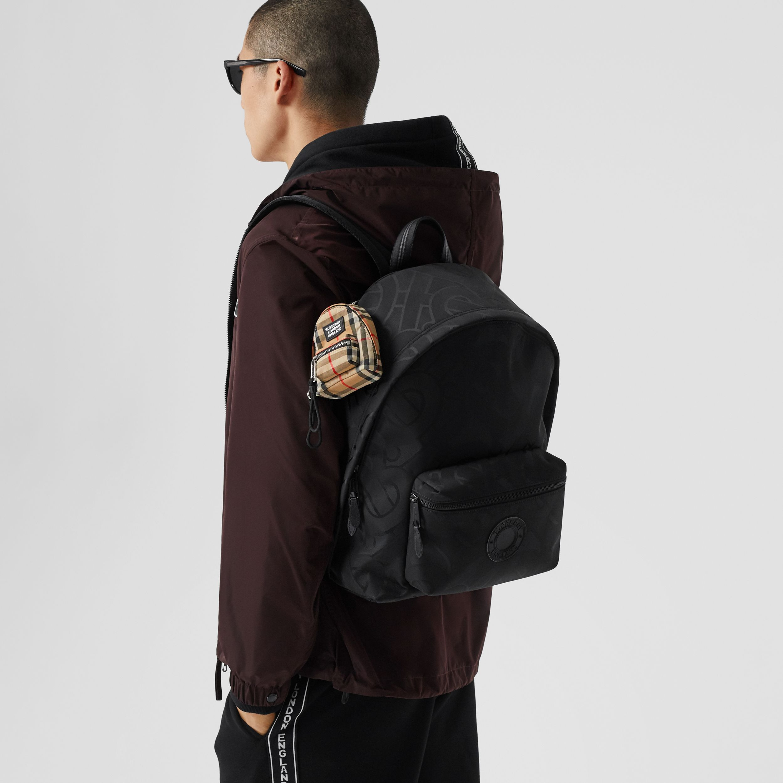 Monogram Recycled Polyester Jacquard Backpack - Men | Burberry Hong Kong S.A.R. - 4
