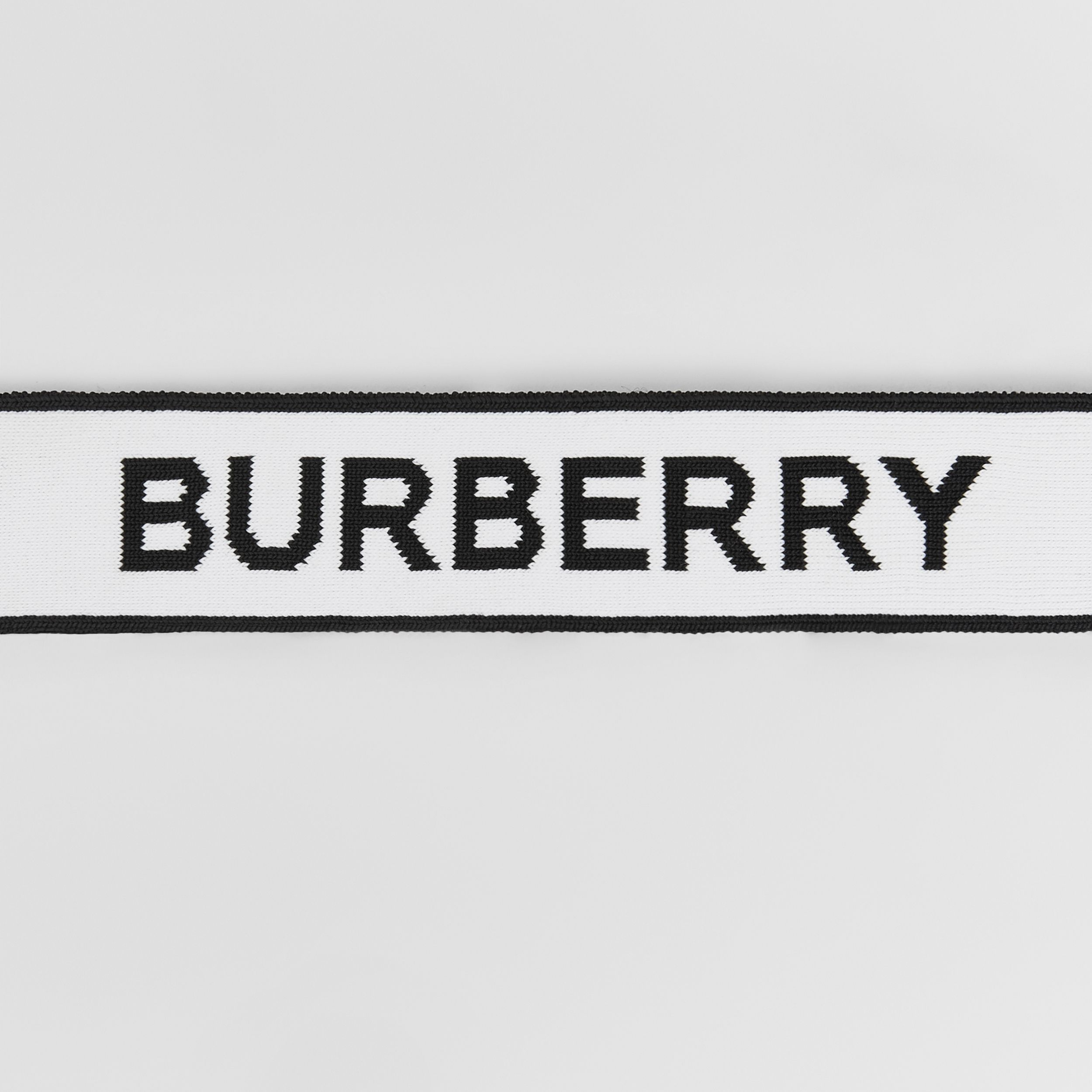 Logo Jacquard Headband in White | Burberry Hong Kong S.A.R. - 2