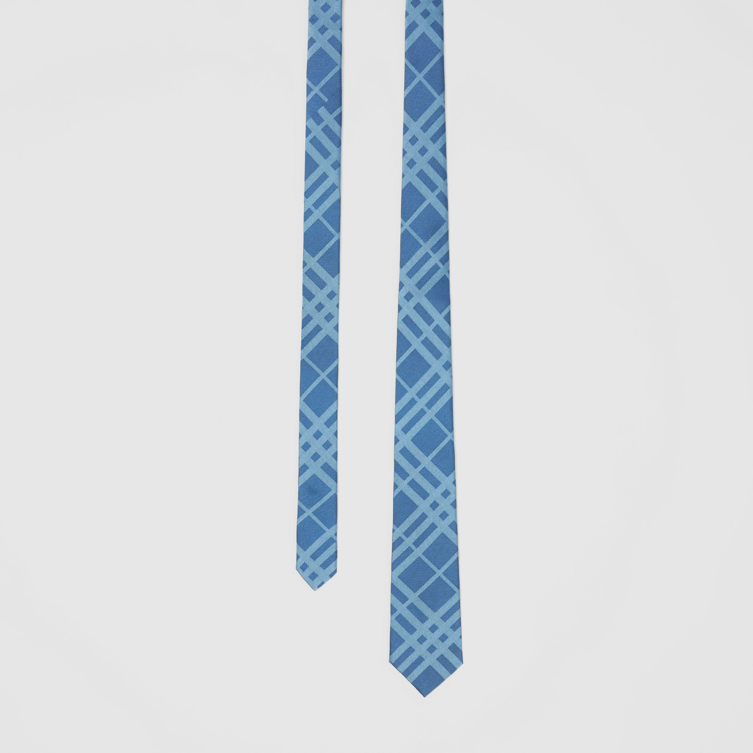 Classic Cut Check Silk Jacquard Tie in Blue Topaz - Men | Burberry - 1