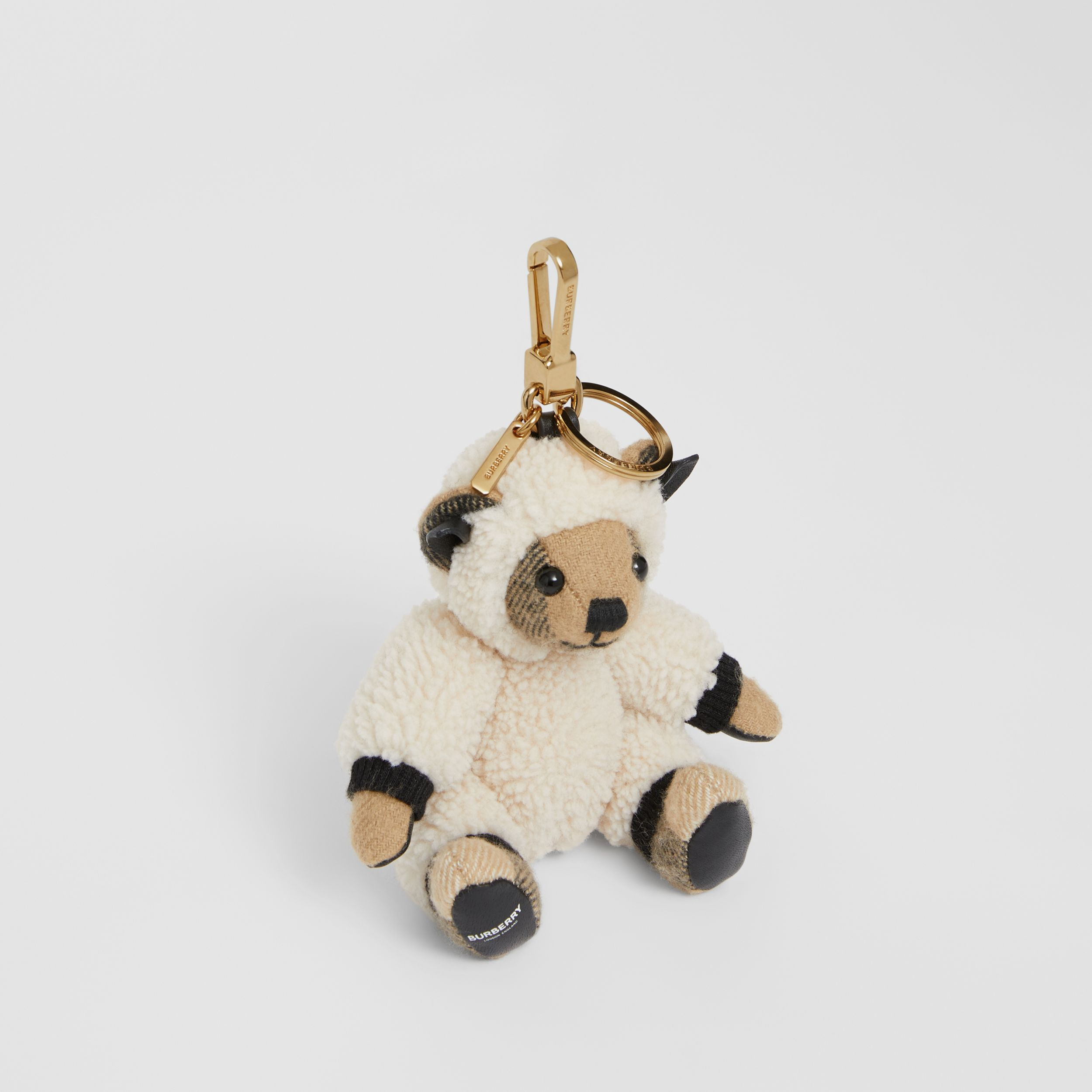 Thomas Bear Charm in Sheep Costume in Archive Beige | Burberry - 1