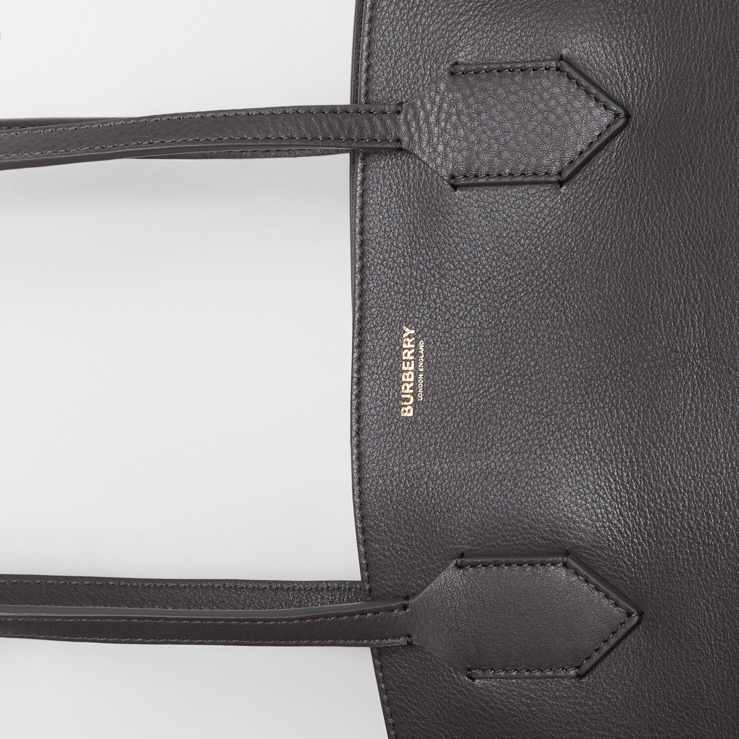 Medium Leather Society Tote in Anthracite - Women | Burberry - 2