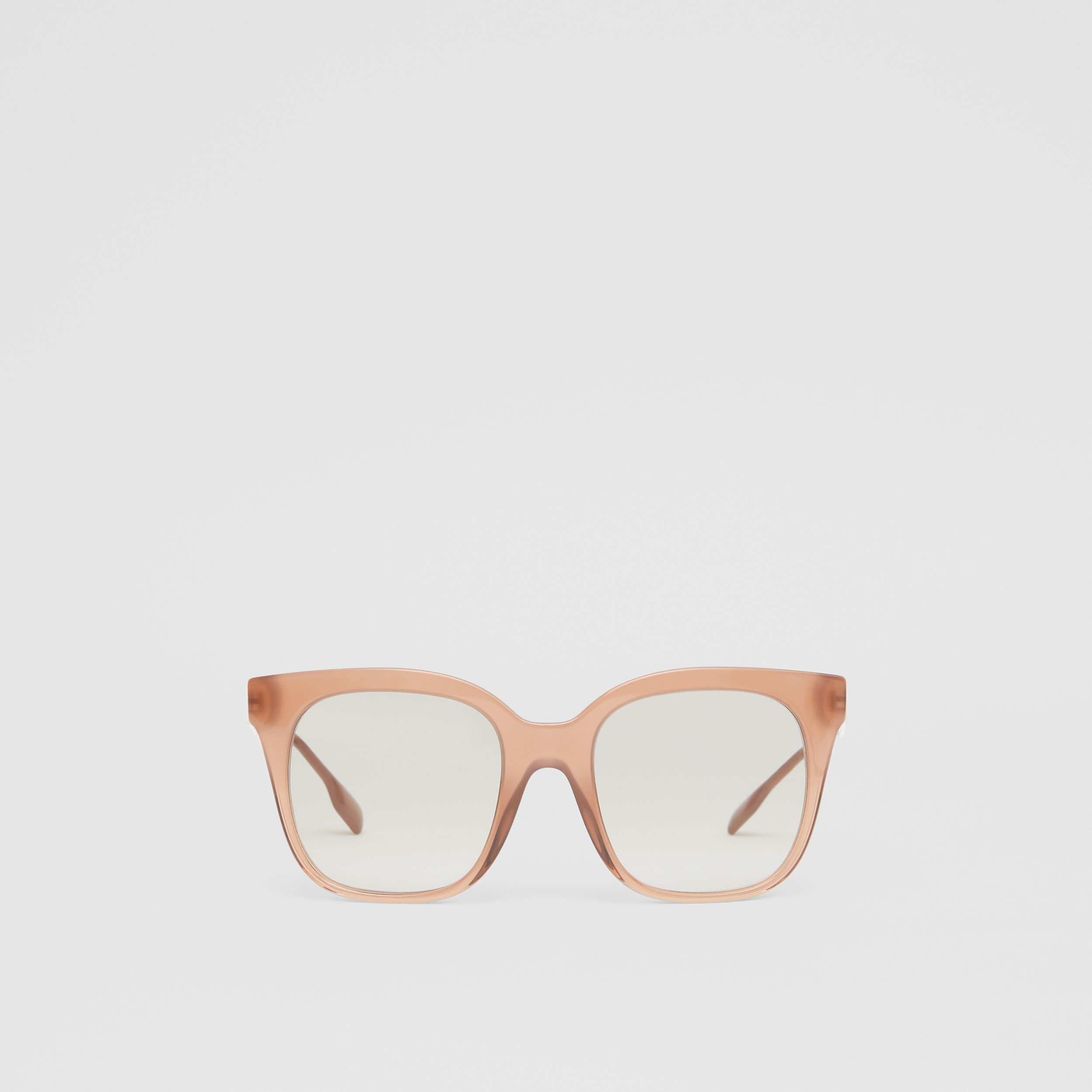 Butterfly Frame Sunglasses in Nude Pink - Women | Burberry - 1