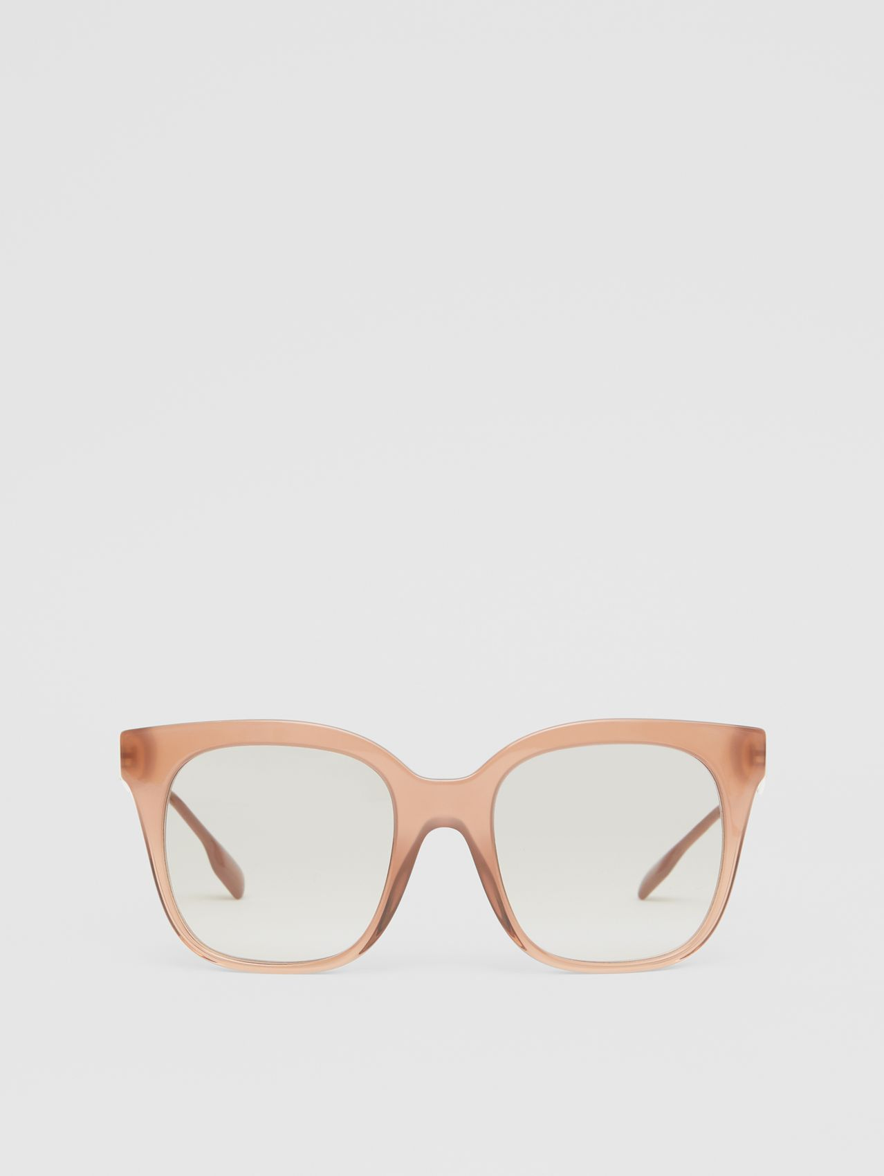 Butterfly Frame Sunglasses in Nude Pink