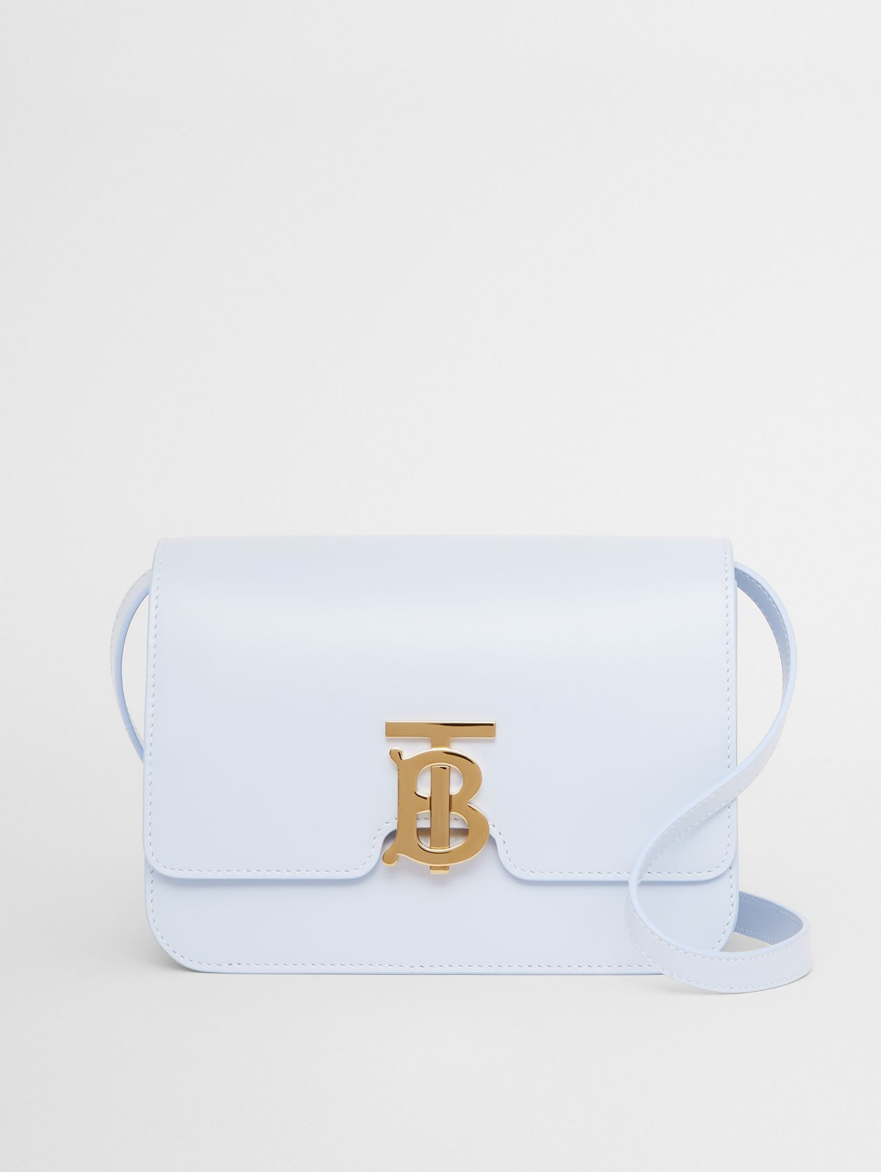 Small Leather TB Bag in Pale Blue