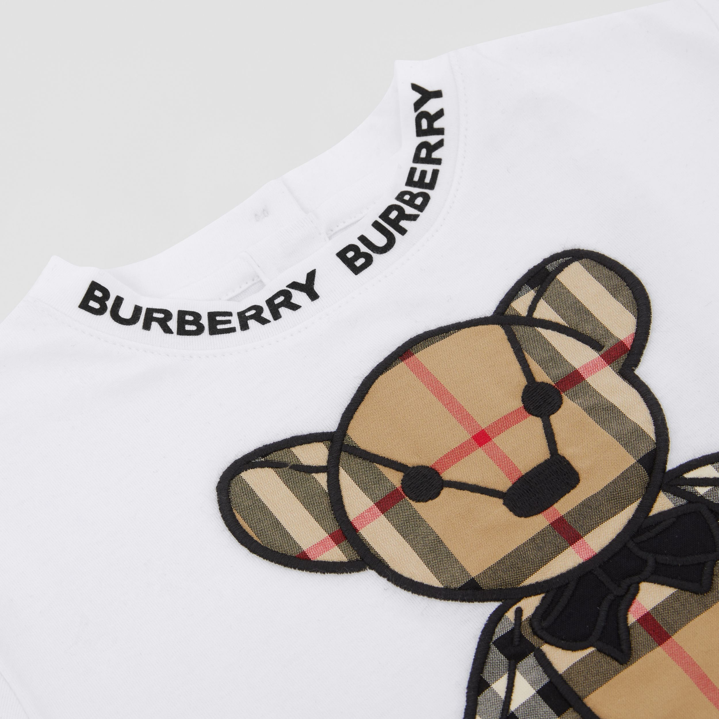 Thomas Bear Appliqué Cotton T-shirt in White - Children | Burberry Hong Kong S.A.R. - 2