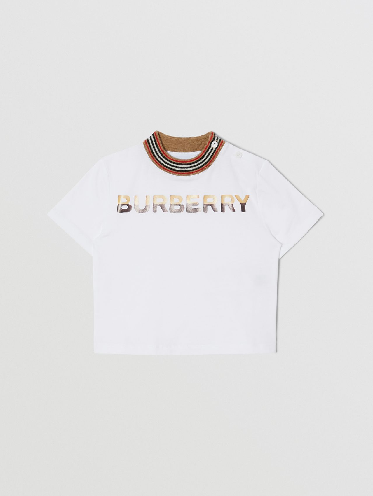 Confectionery Logo Print Cotton T-shirt in White