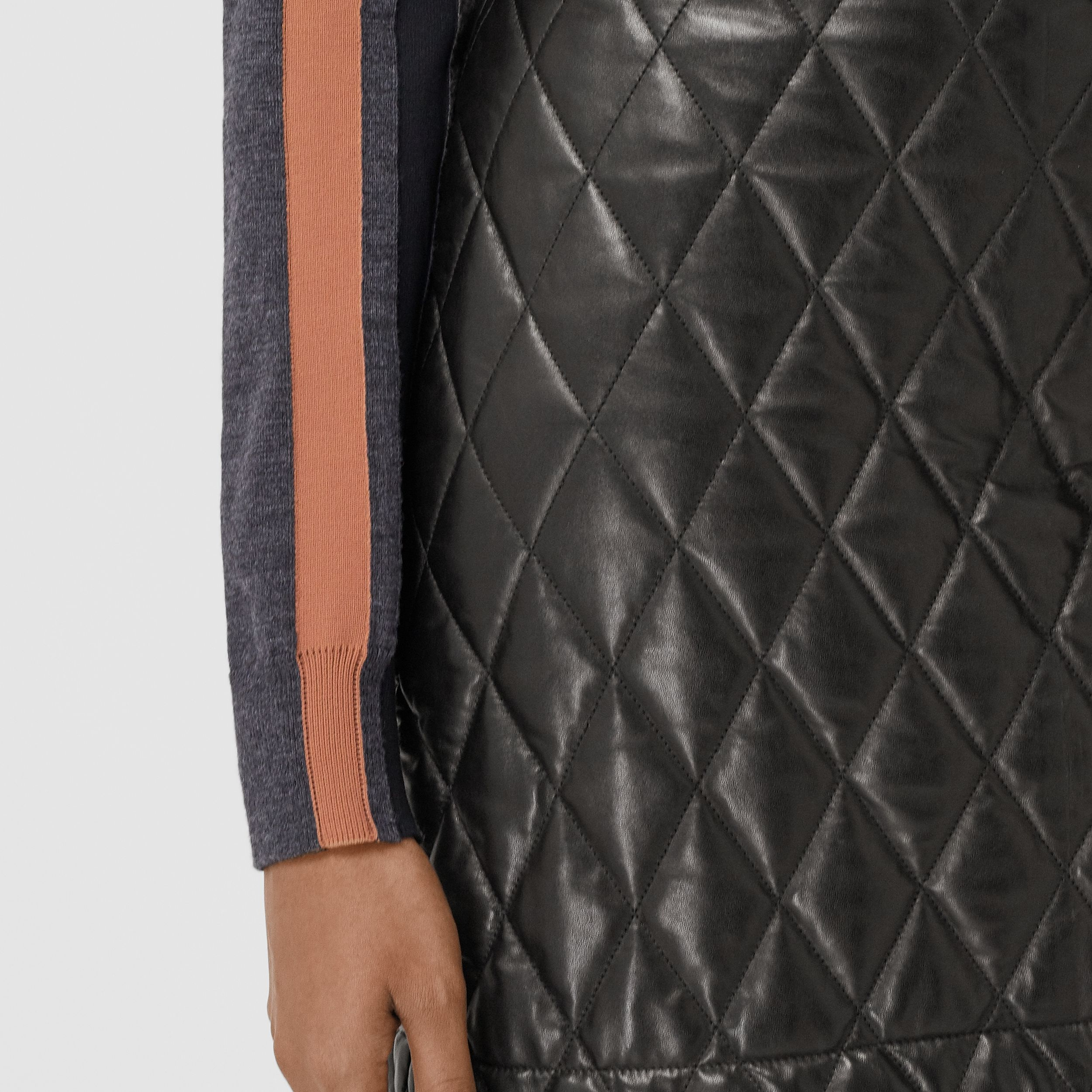 Diamond Quilted Lambskin Mini Skirt in Black - Women | Burberry - 2