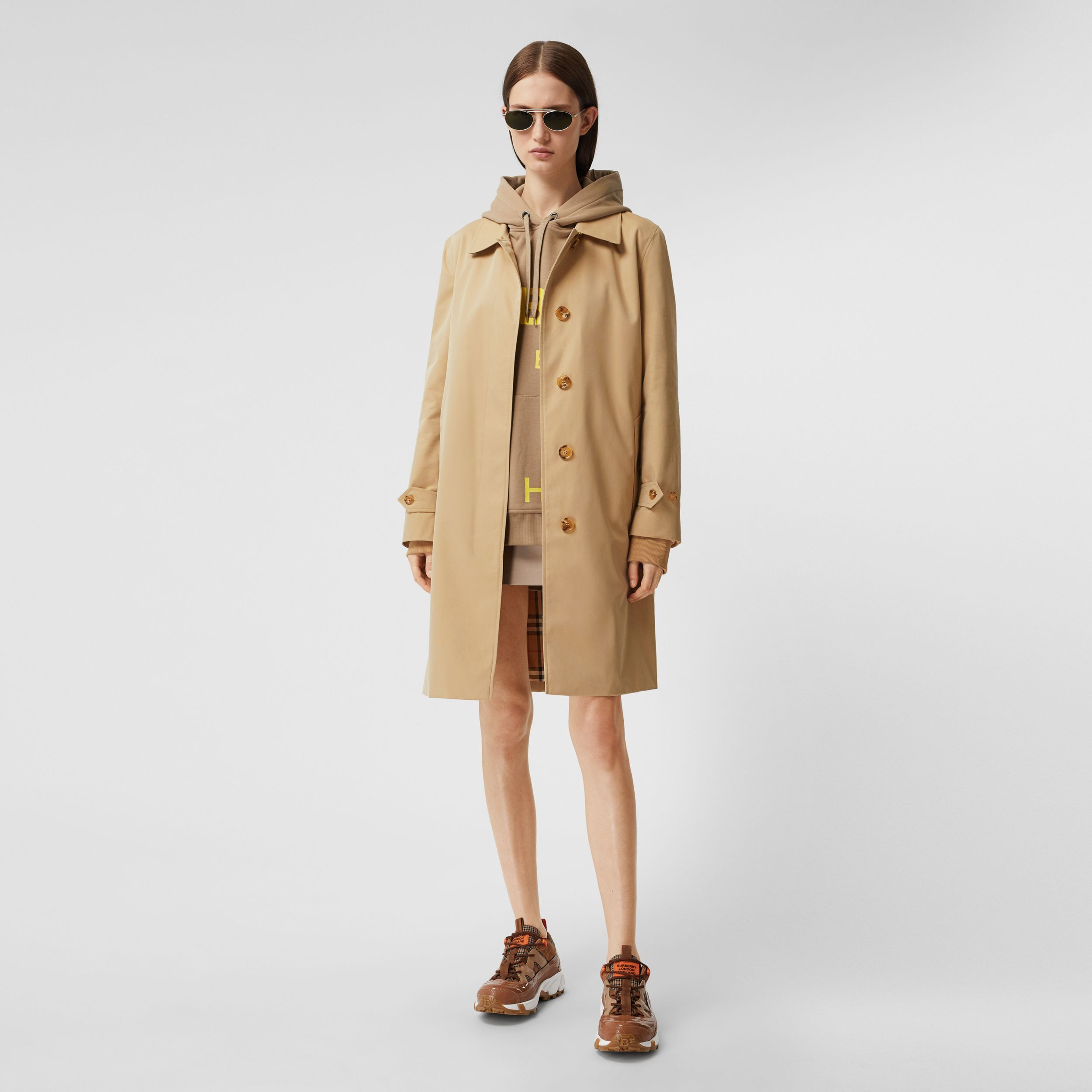 The Pimlico Heritage Car Coat in Honey - Women | Burberry - 1