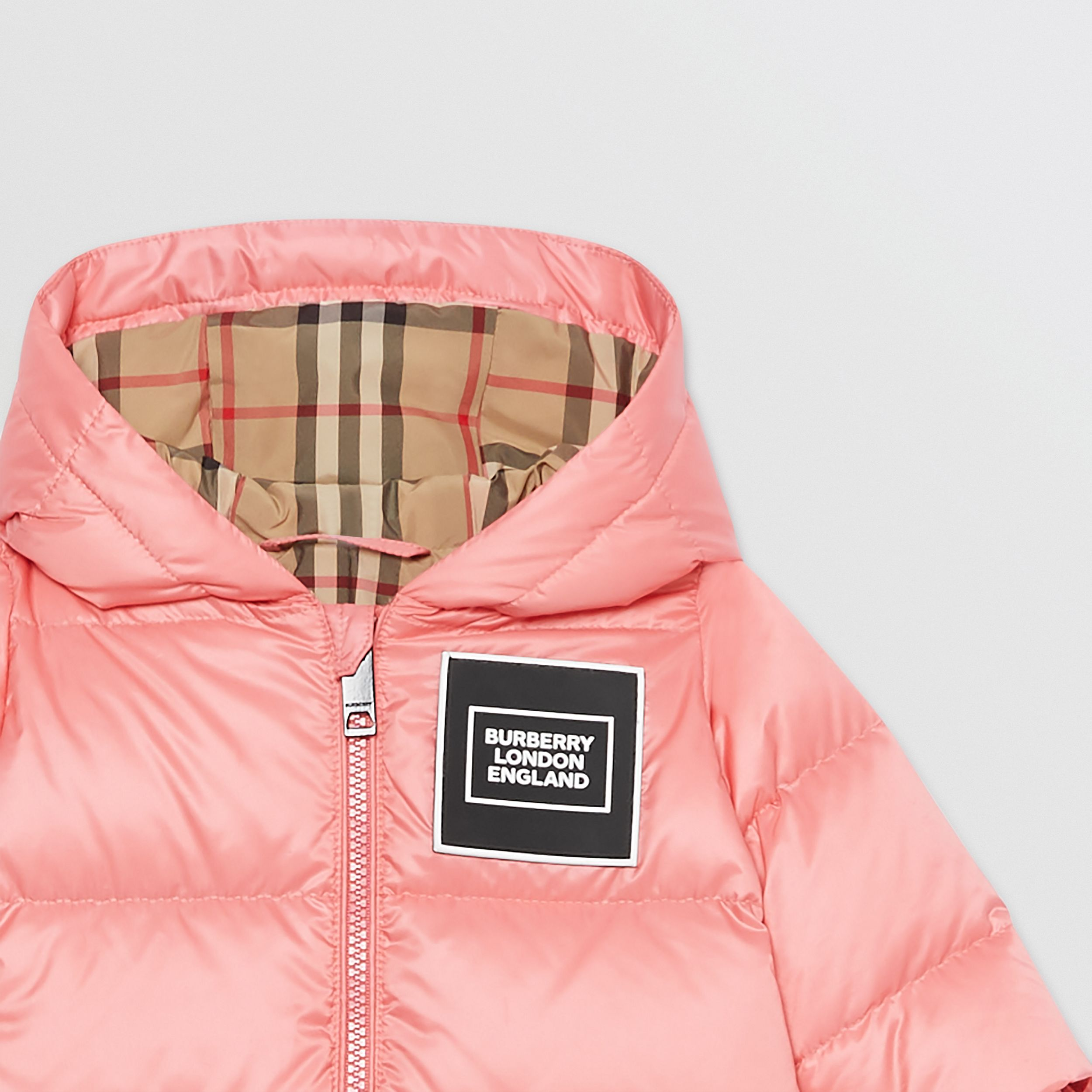 Logo Appliqué Puffer Suit in Peach - Children | Burberry United Kingdom - 4