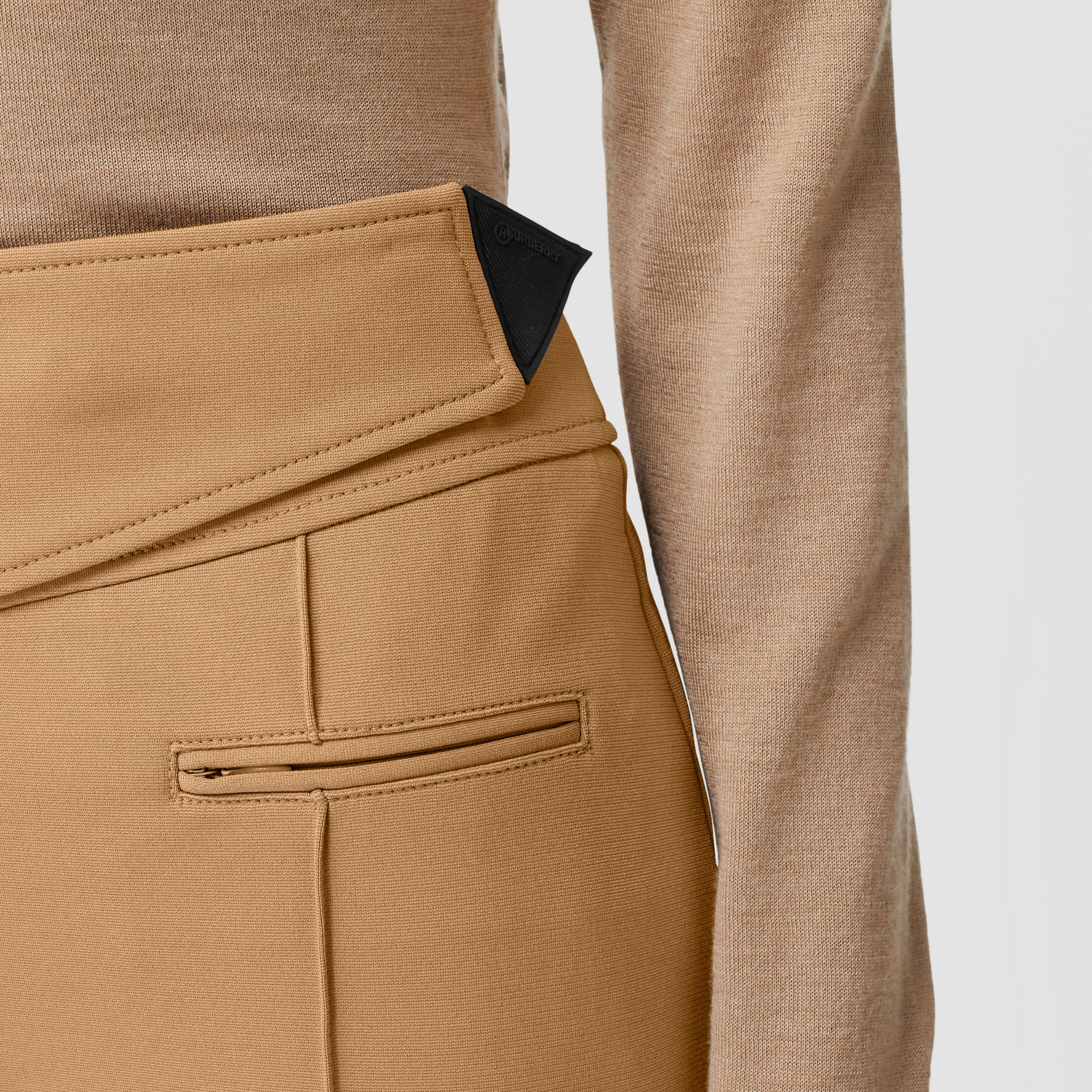 Stretch Crepe Jersey Jodhpurs in Dark Tan - Women | Burberry Canada - 2