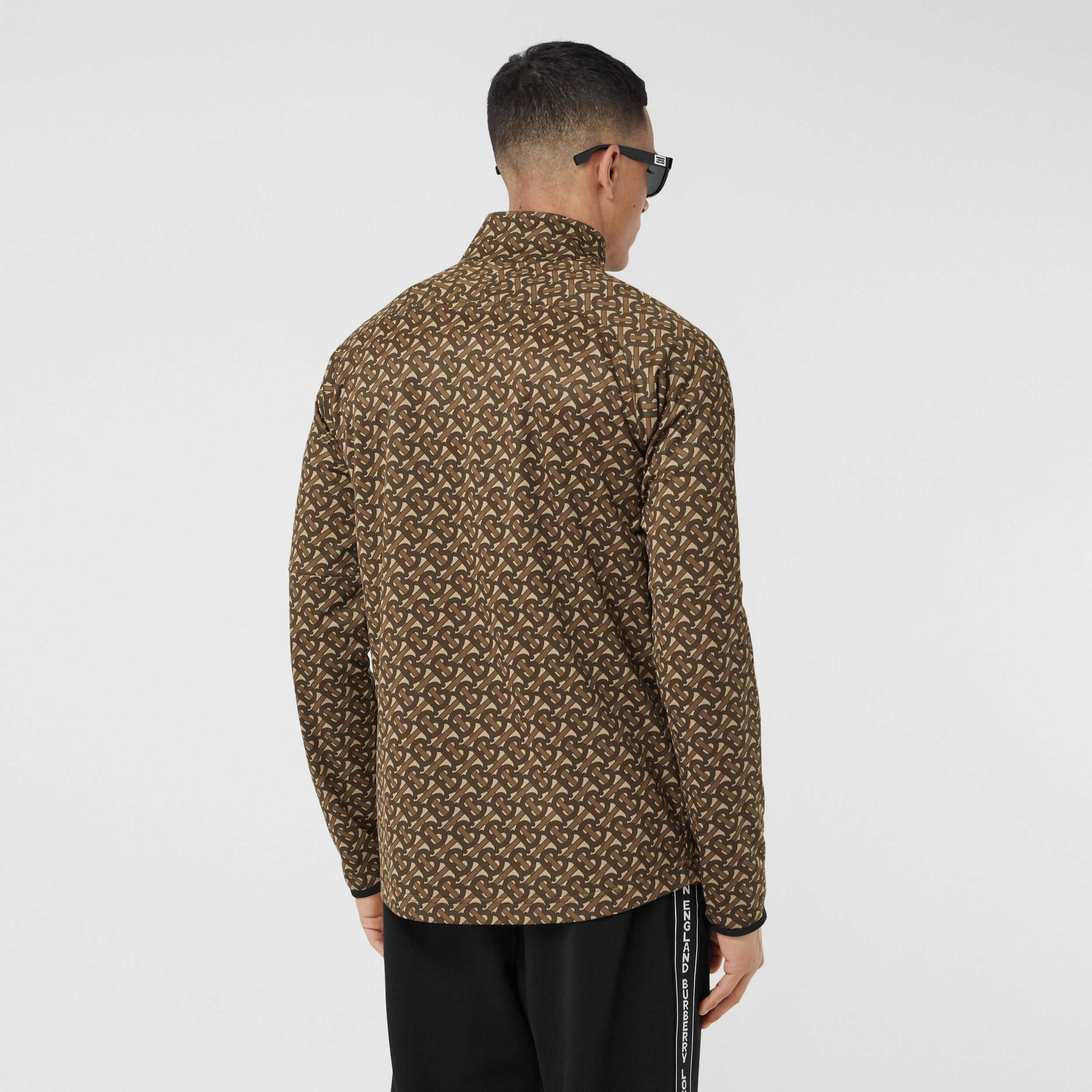 Monogram Print Technical Twill Track Top - Men | Burberry - 3