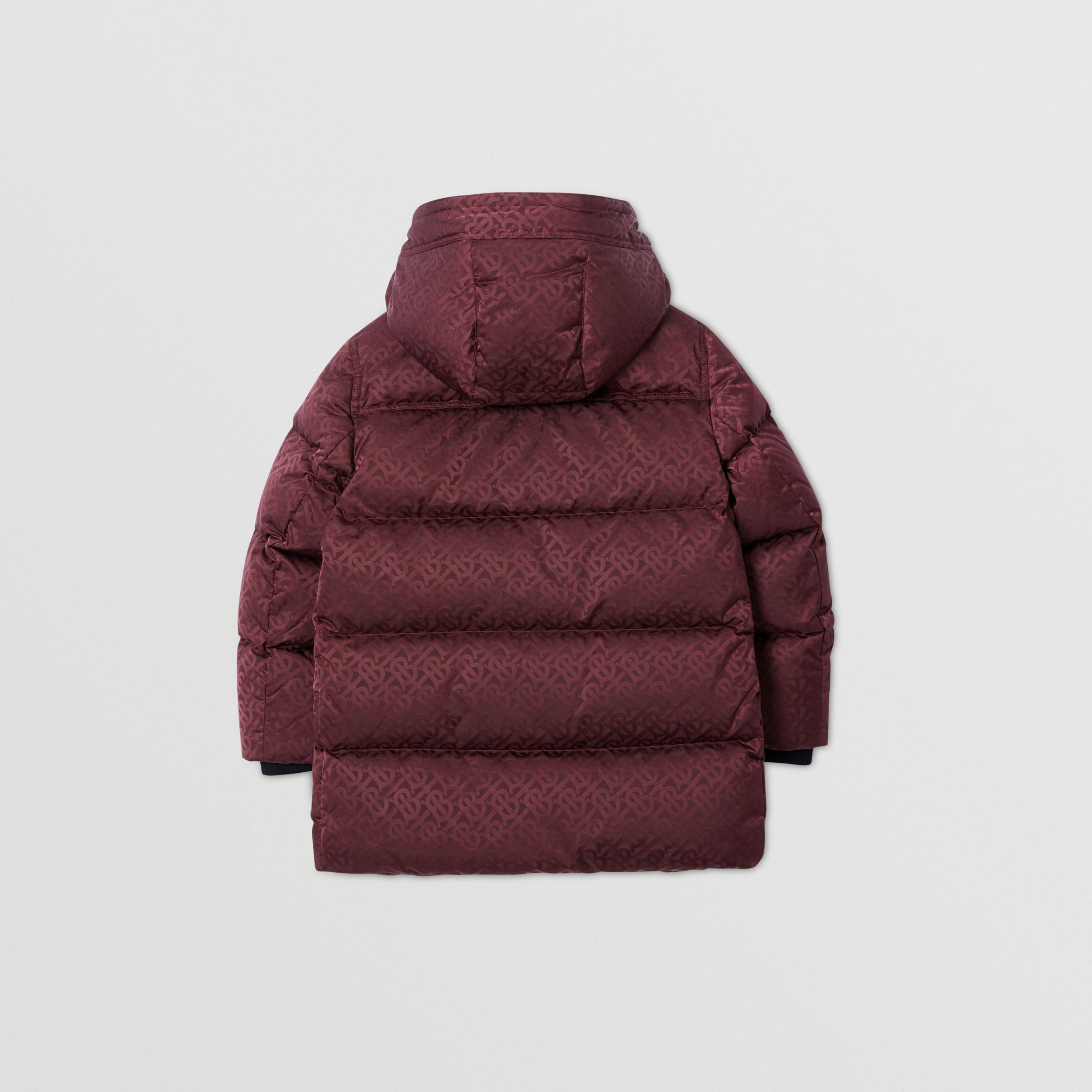 Detachable Hood Monogram Jacquard Puffer Coat | Burberry Singapore - 4