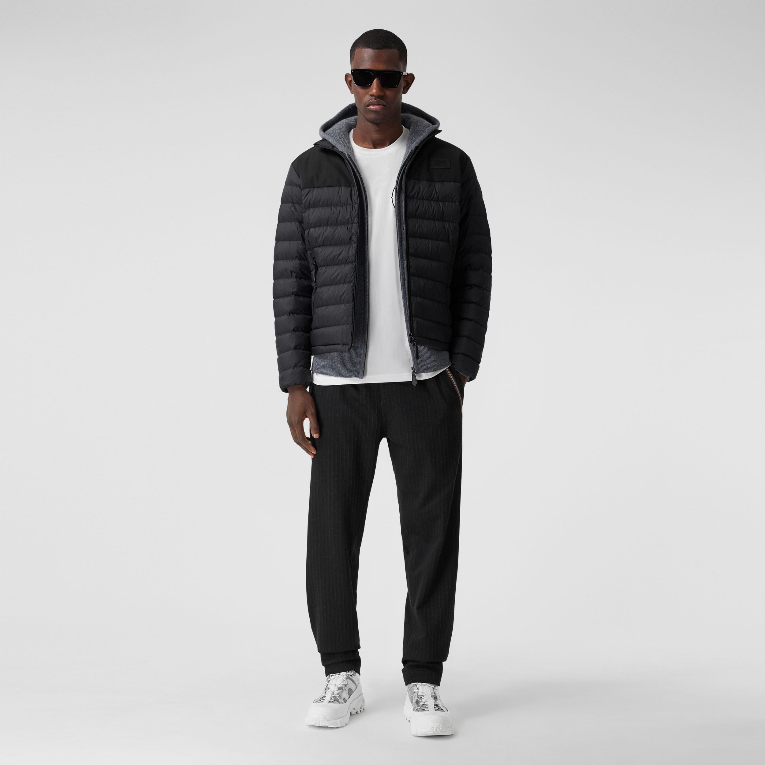 Logo Appliqué Lightweight Puffer Jacket in Black - Men | Burberry - 1