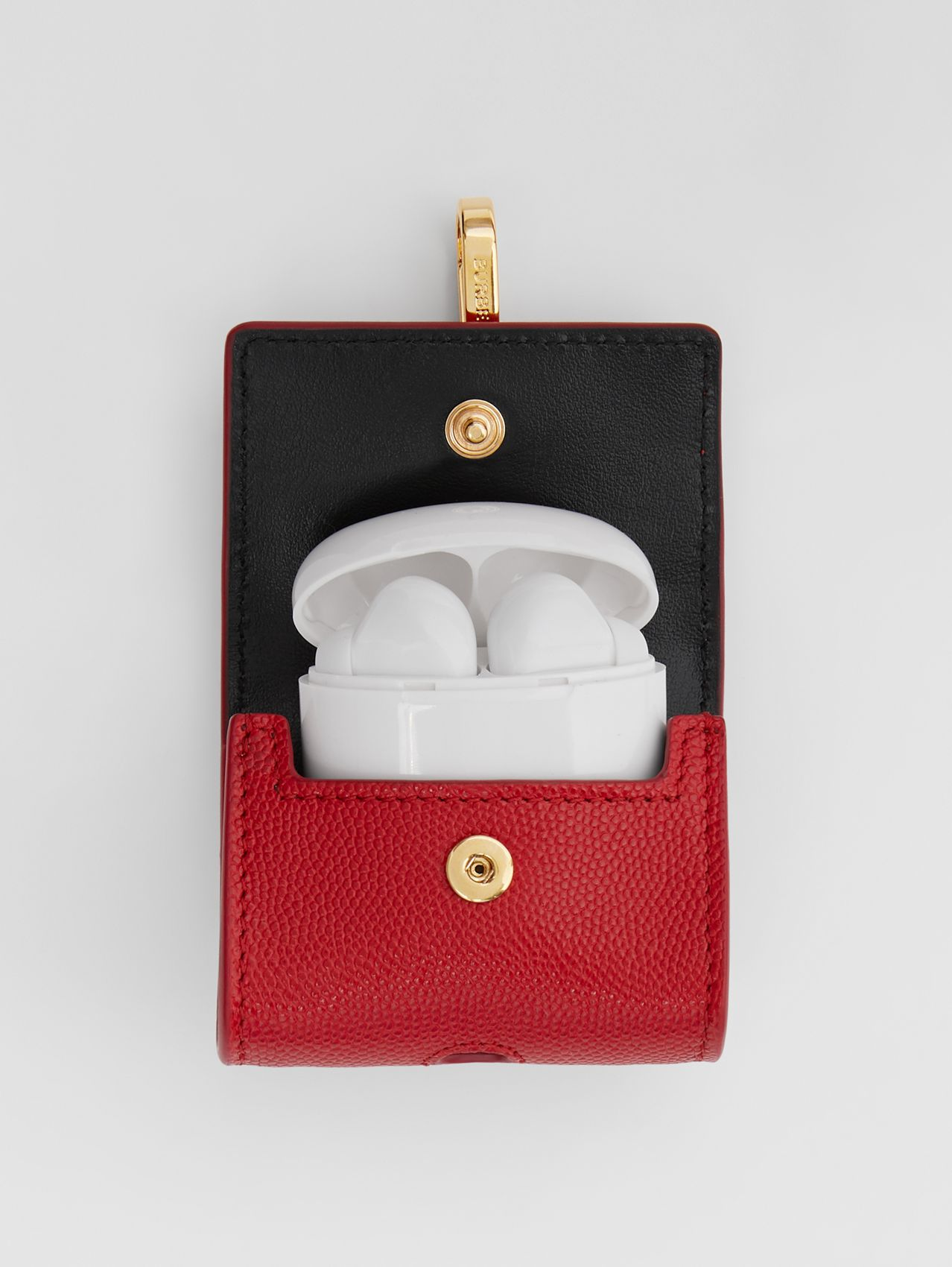 Grainy Leather AirPods Pro Case in Bright Red