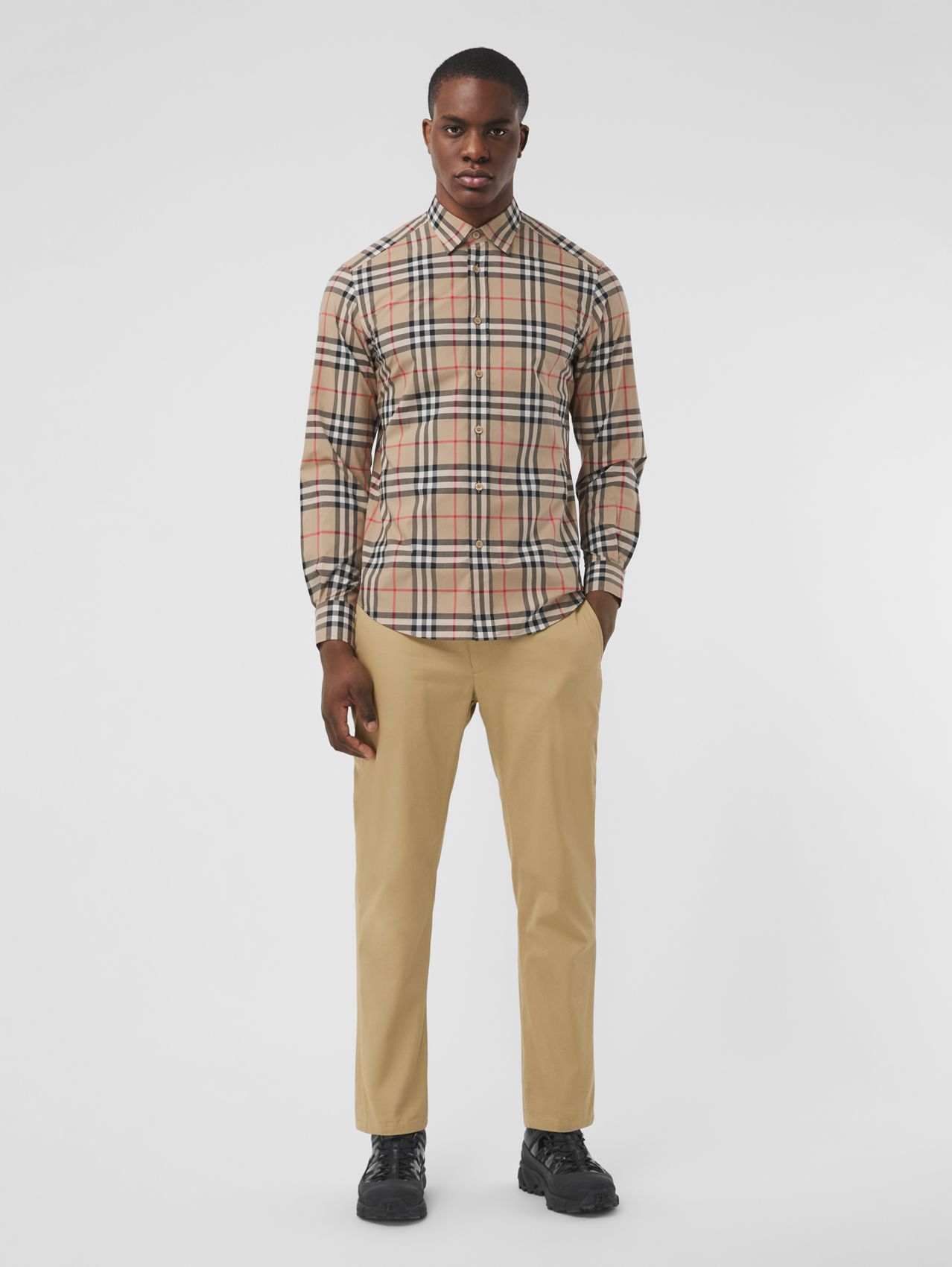 Slim Fit Cotton Chinos in Honey