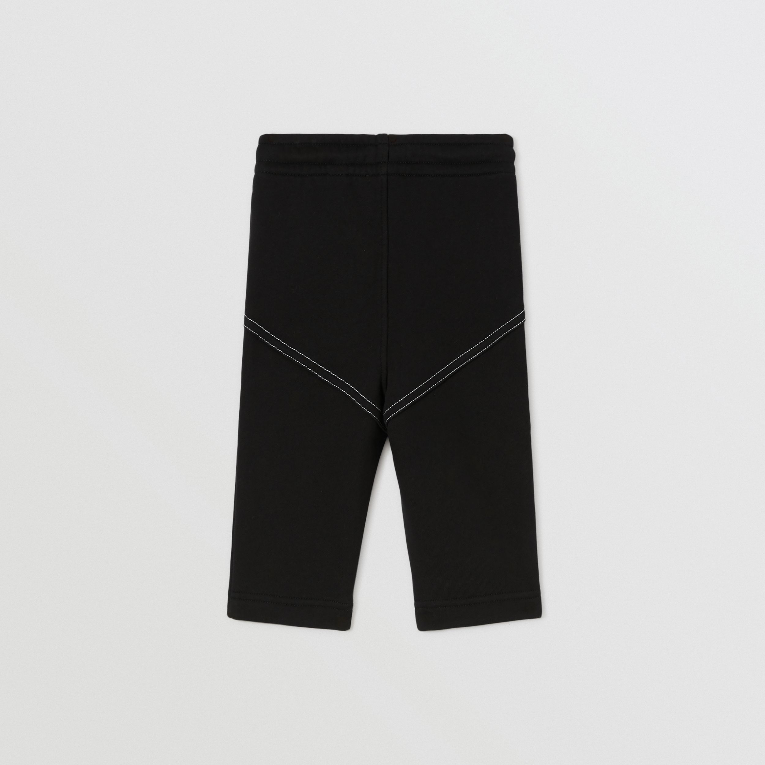 Logo Print Cotton Jogging Pants in Black - Children | Burberry - 2