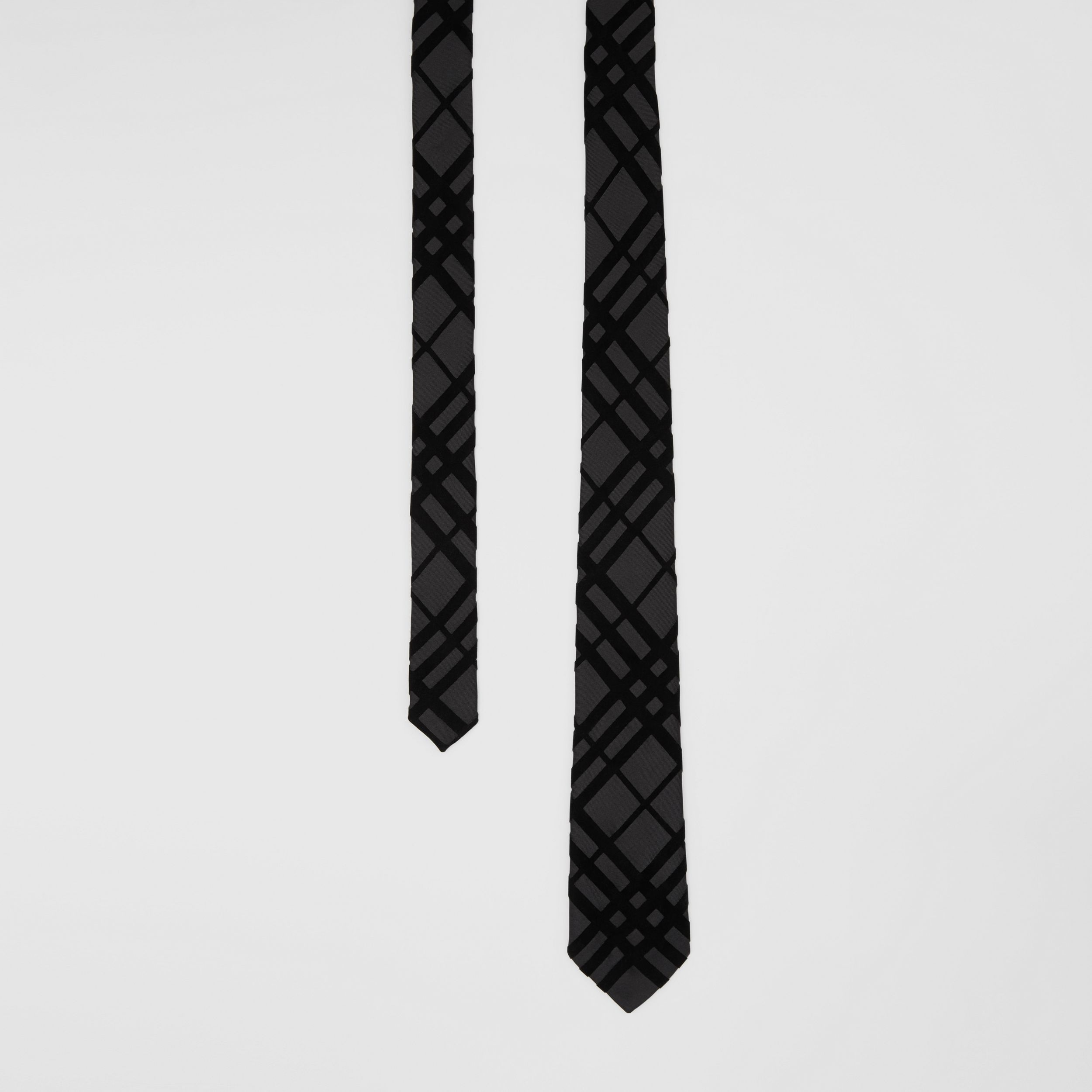 Classic Cut Check Flock Silk Tie - Men | Burberry - 1
