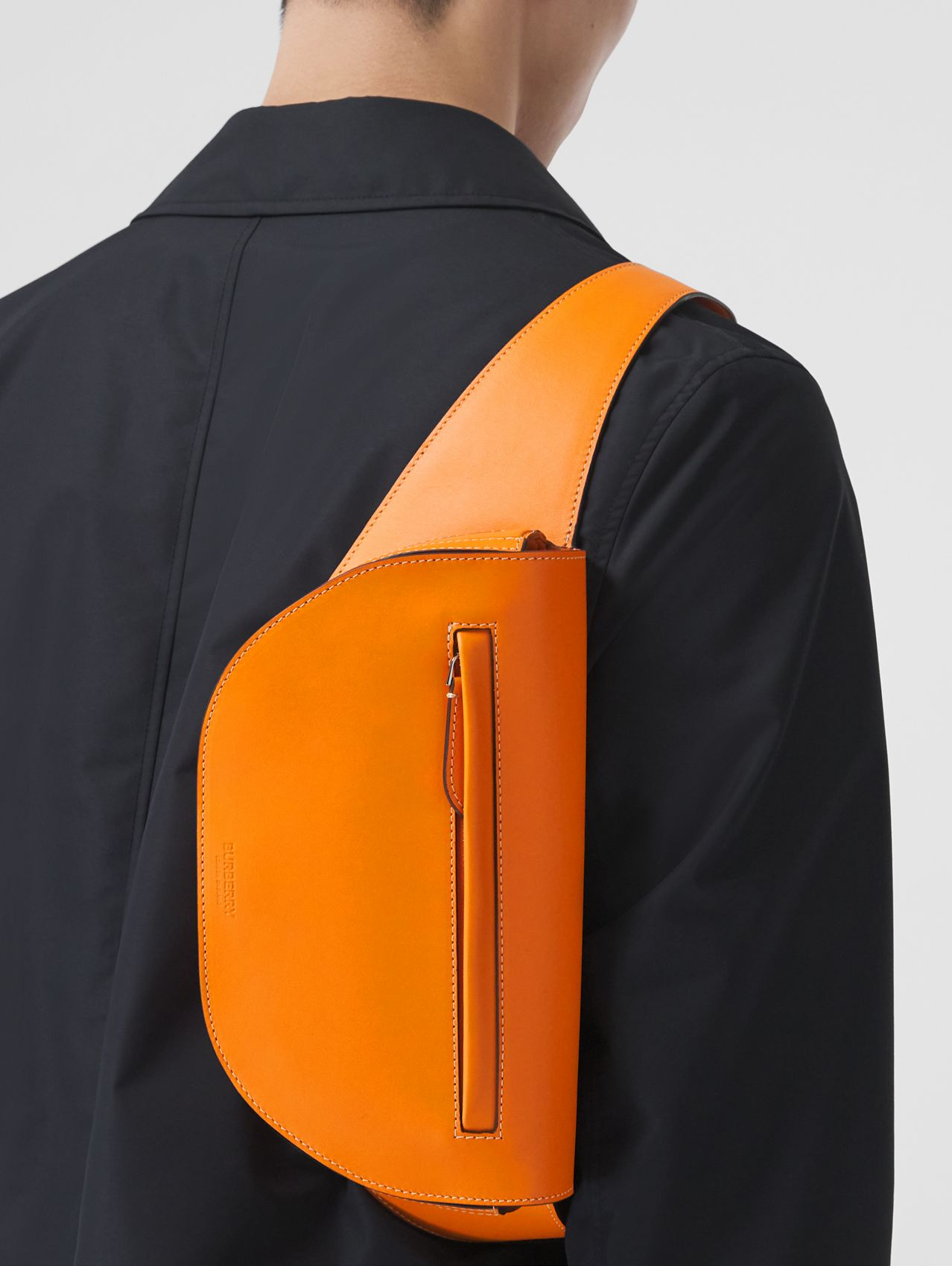 Small Leather Olympia Bum Bag in Deep Orange