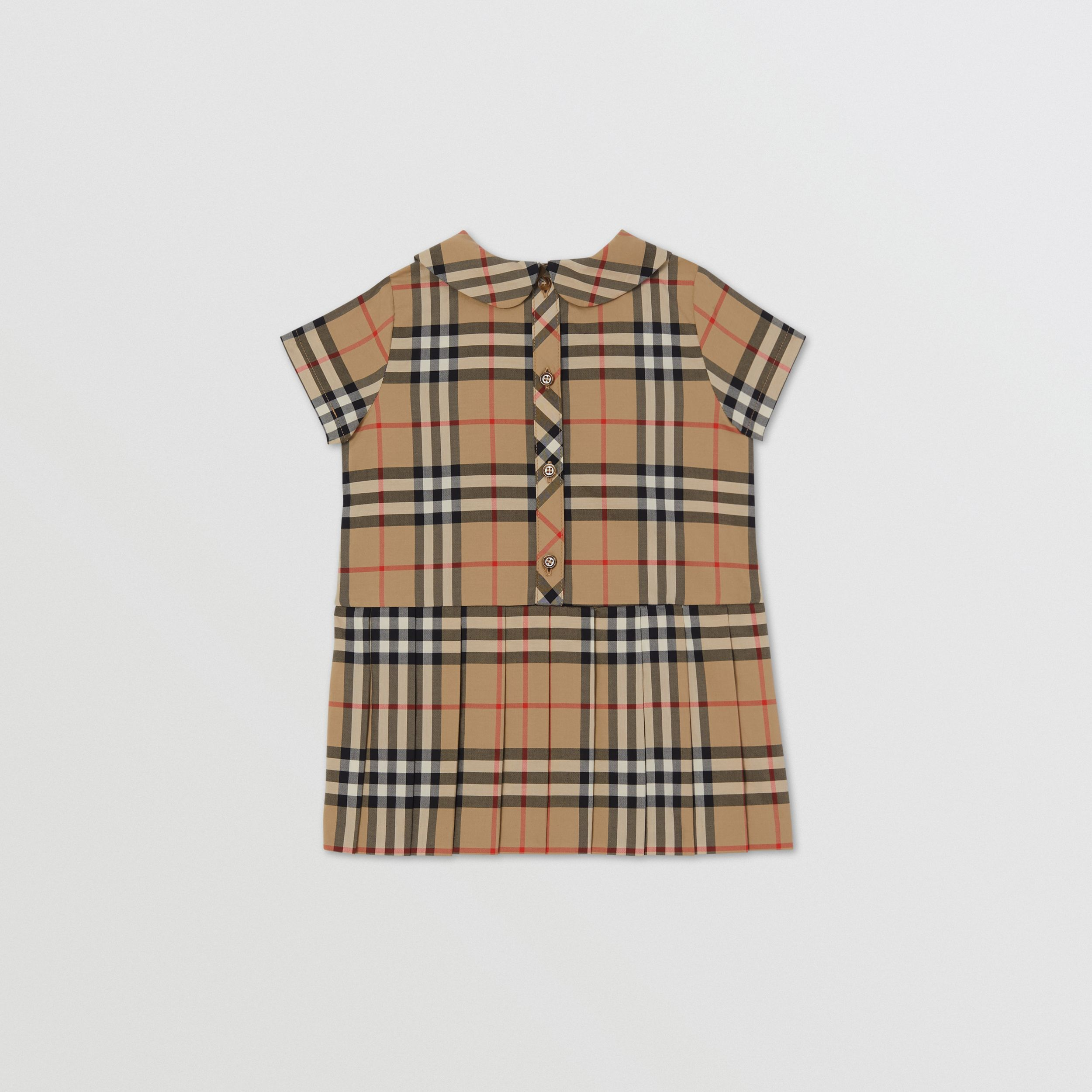 Vestitino in cotone con colletto Peter Pan e motivo Vintage check - Bambini | Burberry - 4