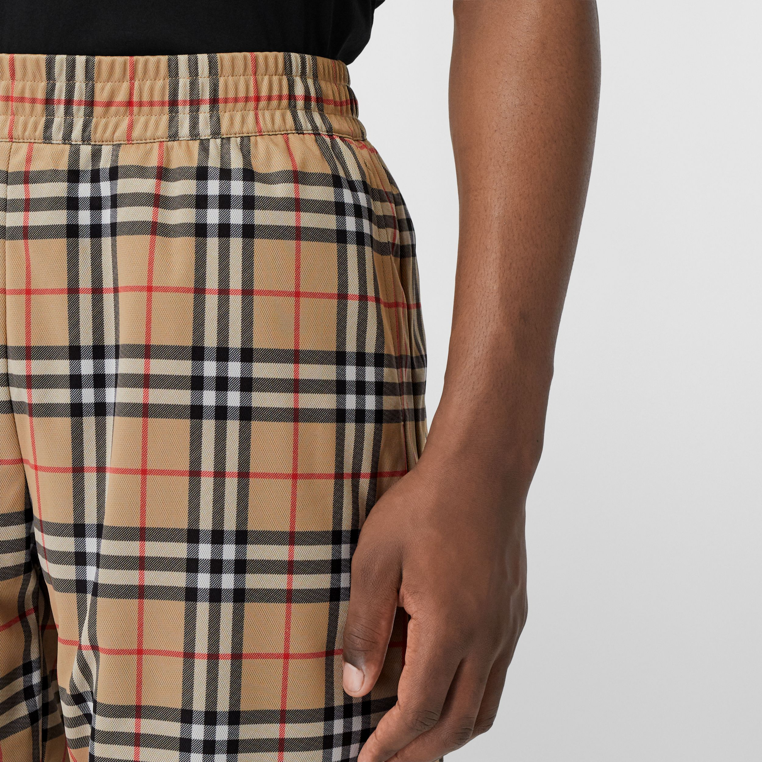Vintage Check Technical Twill Shorts in Archive Beige - Men | Burberry - 2