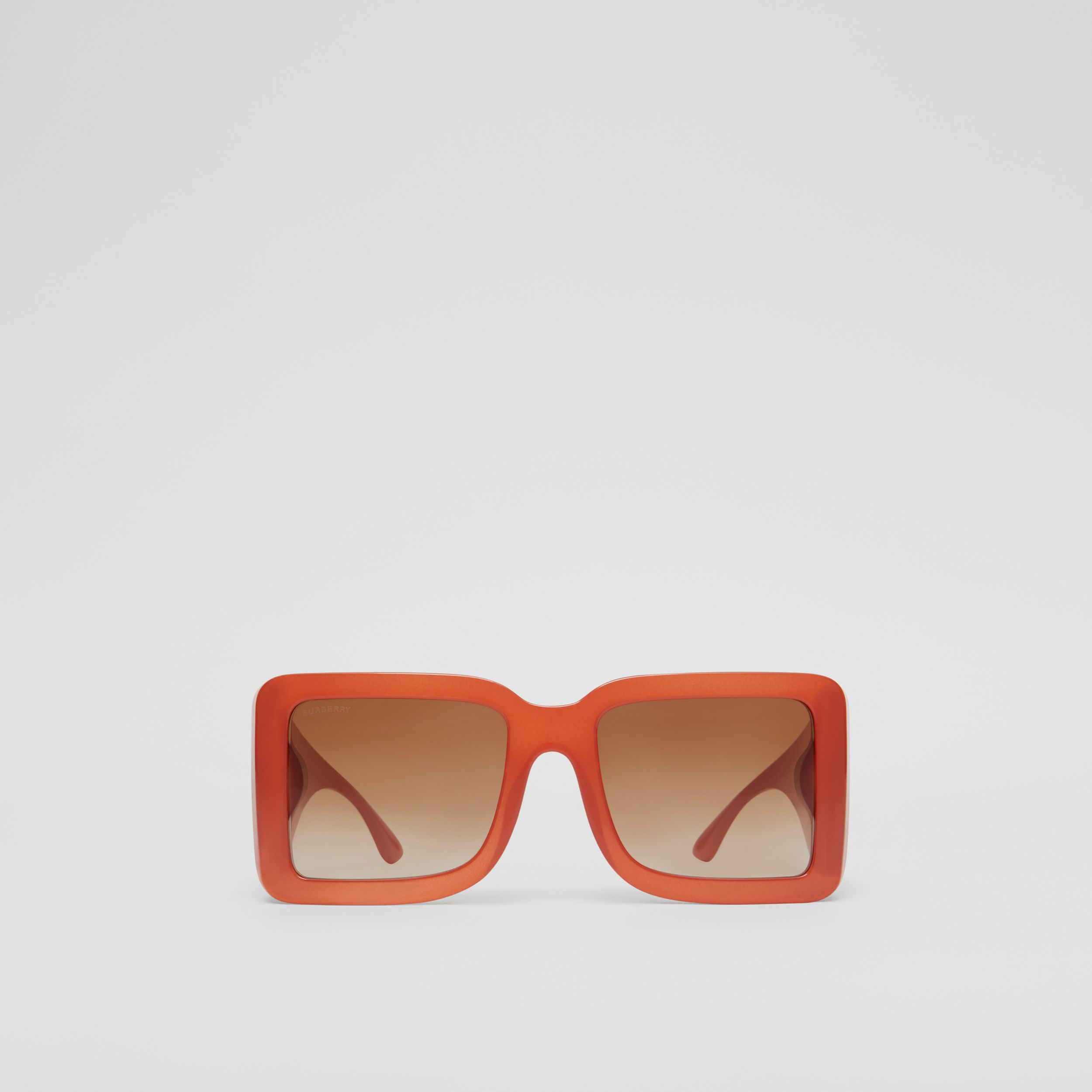 B Motif Square Frame Sunglasses in Orange | Burberry Canada - 1