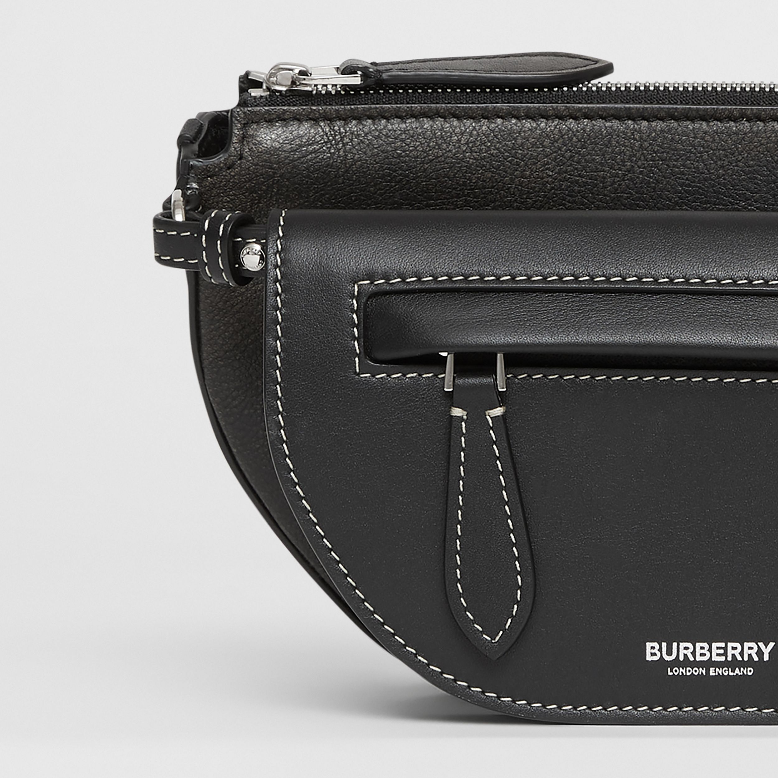 Mini Leather Double Olympia Bag in Black - Women | Burberry - 2