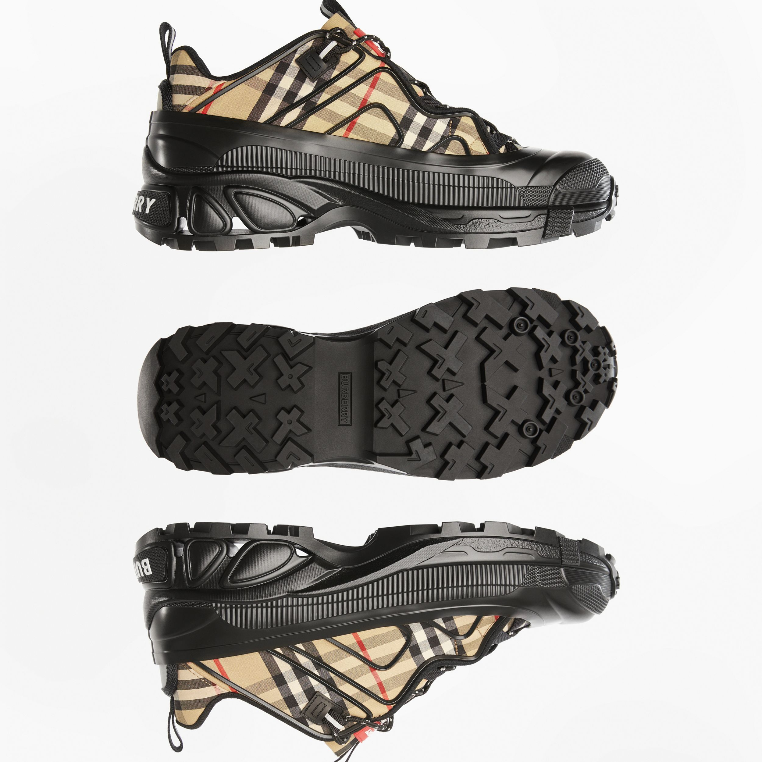 Vintage Check Cotton Arthur Sneakers in Black/archive Beige - Men | Burberry United Kingdom - 2