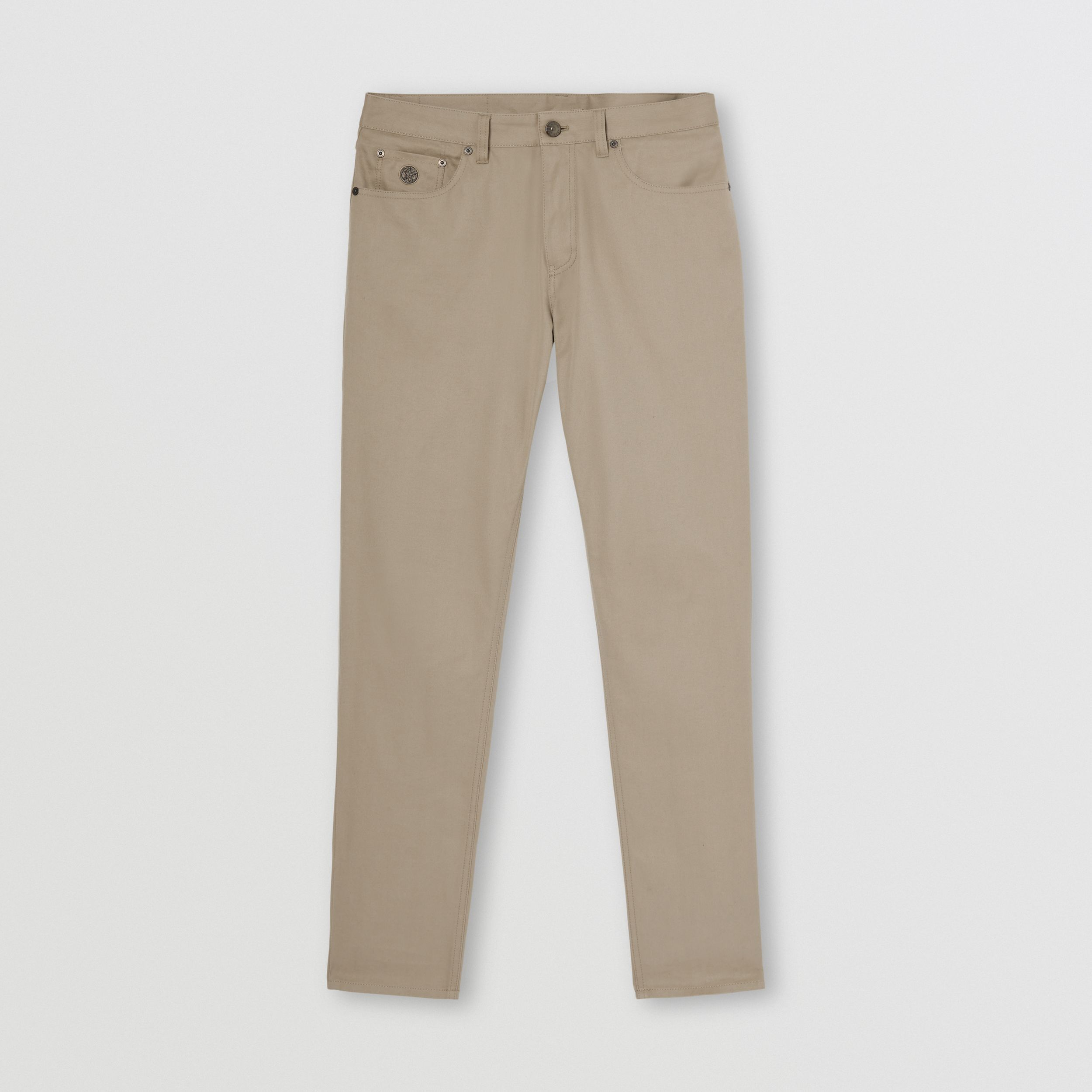 Slim Fit Cotton Chinos in Dark Stone - Men | Burberry Hong Kong S.A.R. - 4