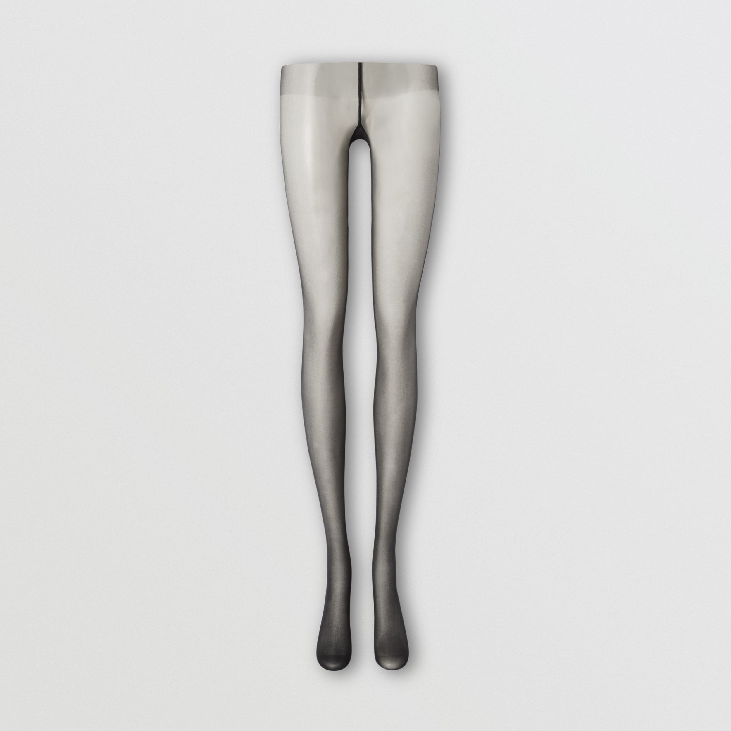 Monogram Motif Seamed Tights in Black - Women | Burberry - 1