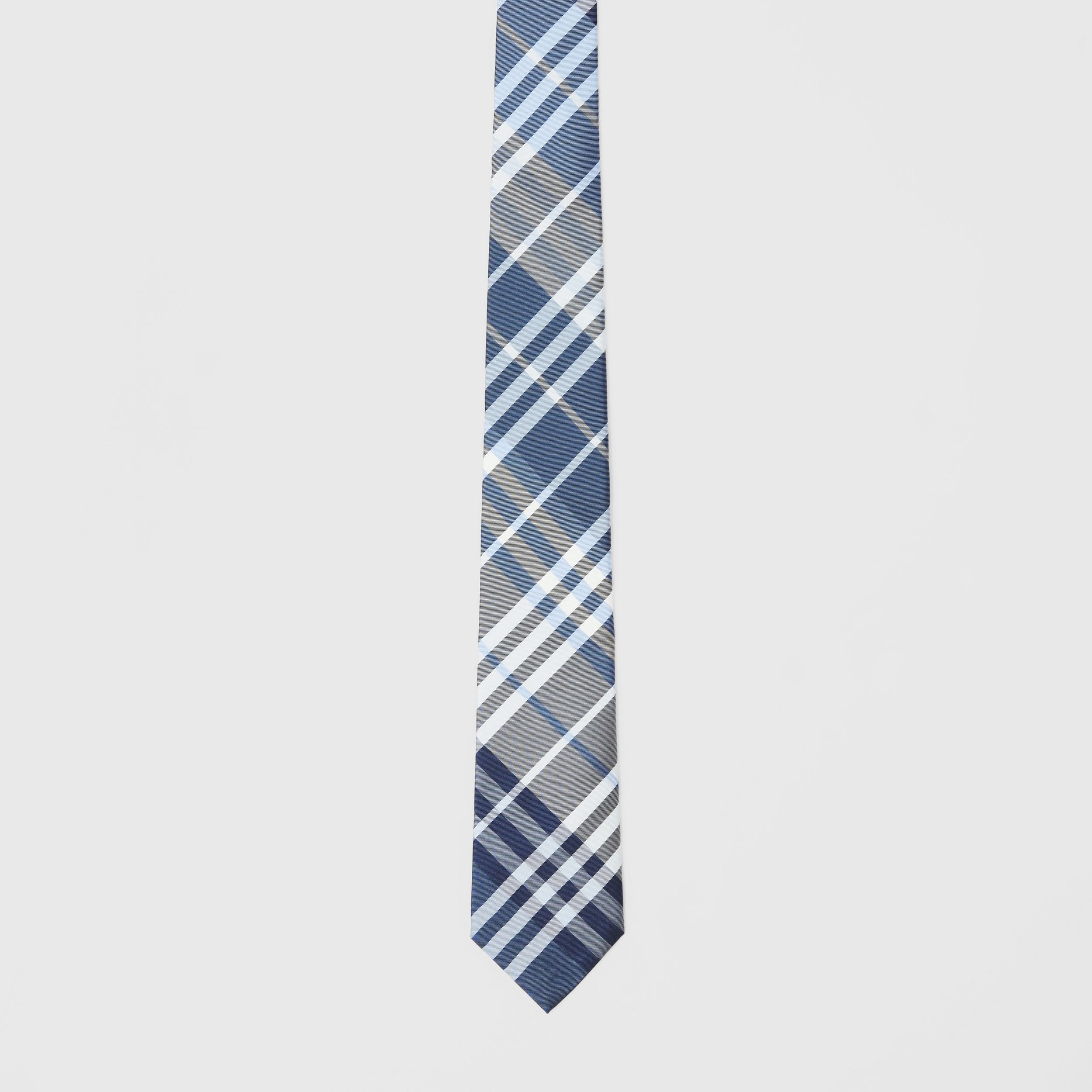 Classic Cut Check Silk Tie in Pale Blue - Men | Burberry - 3
