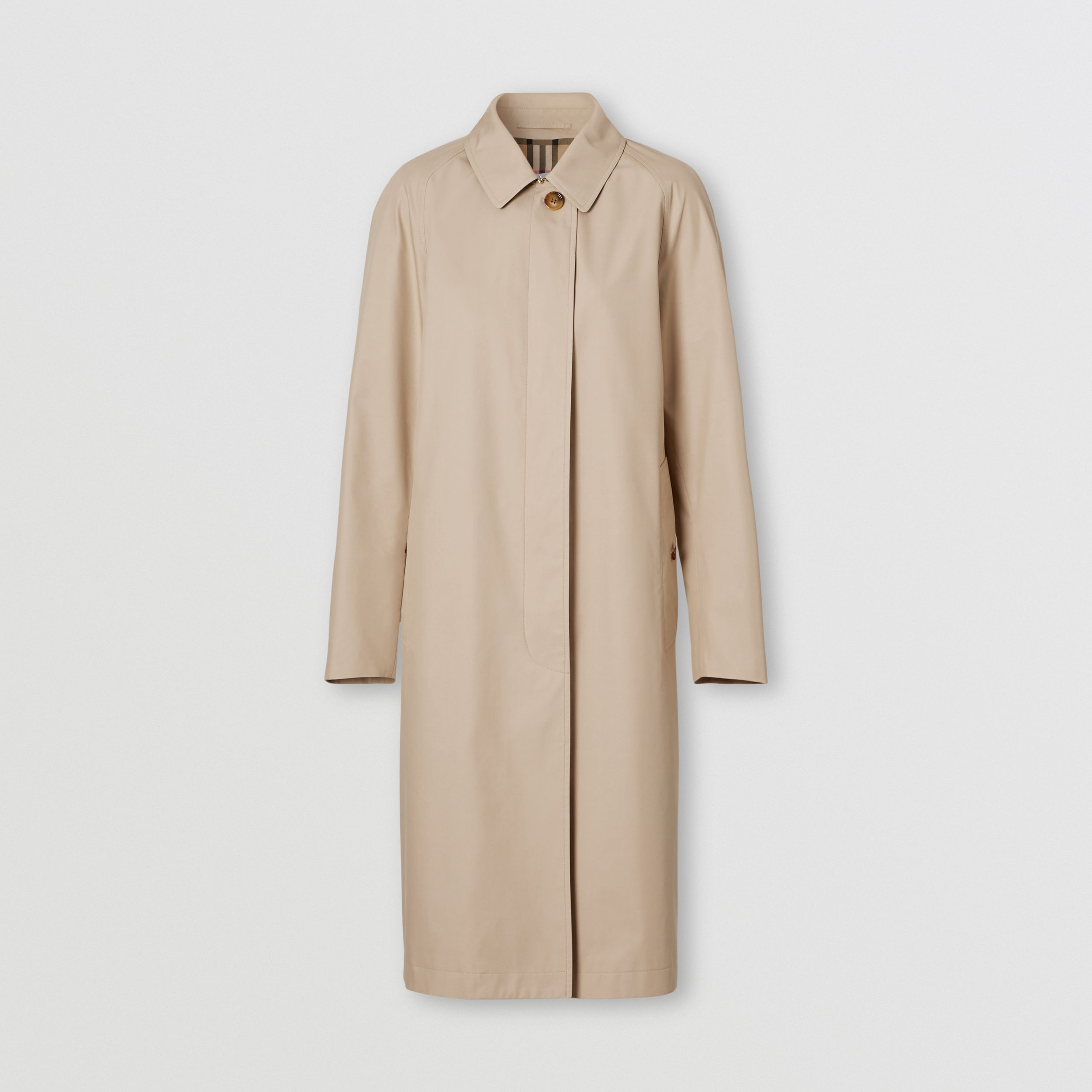 Technical Cotton Car Coat in Soft Fawn - Women | Burberry United States - 4