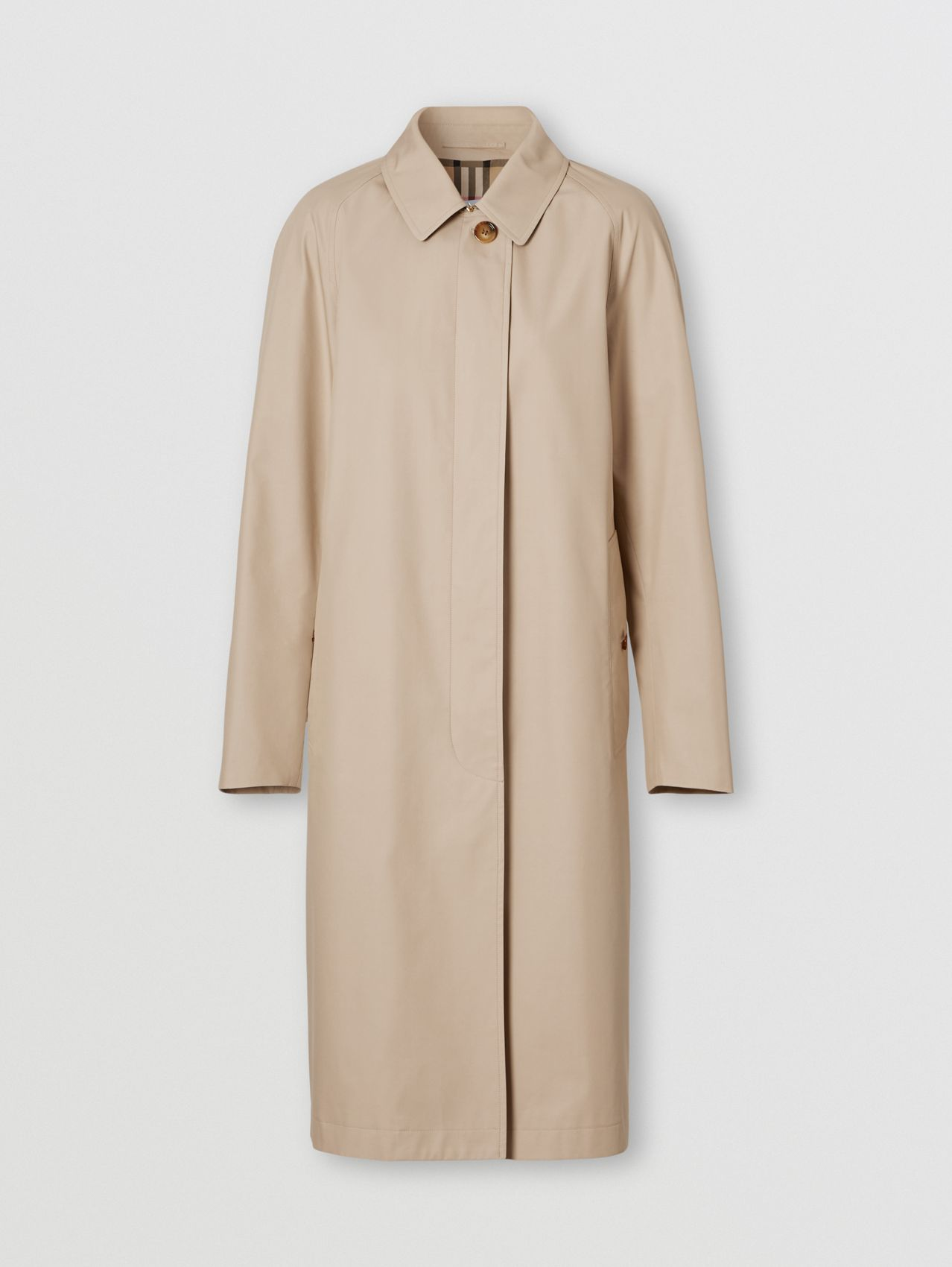 Technical Cotton Car Coat in Soft Fawn