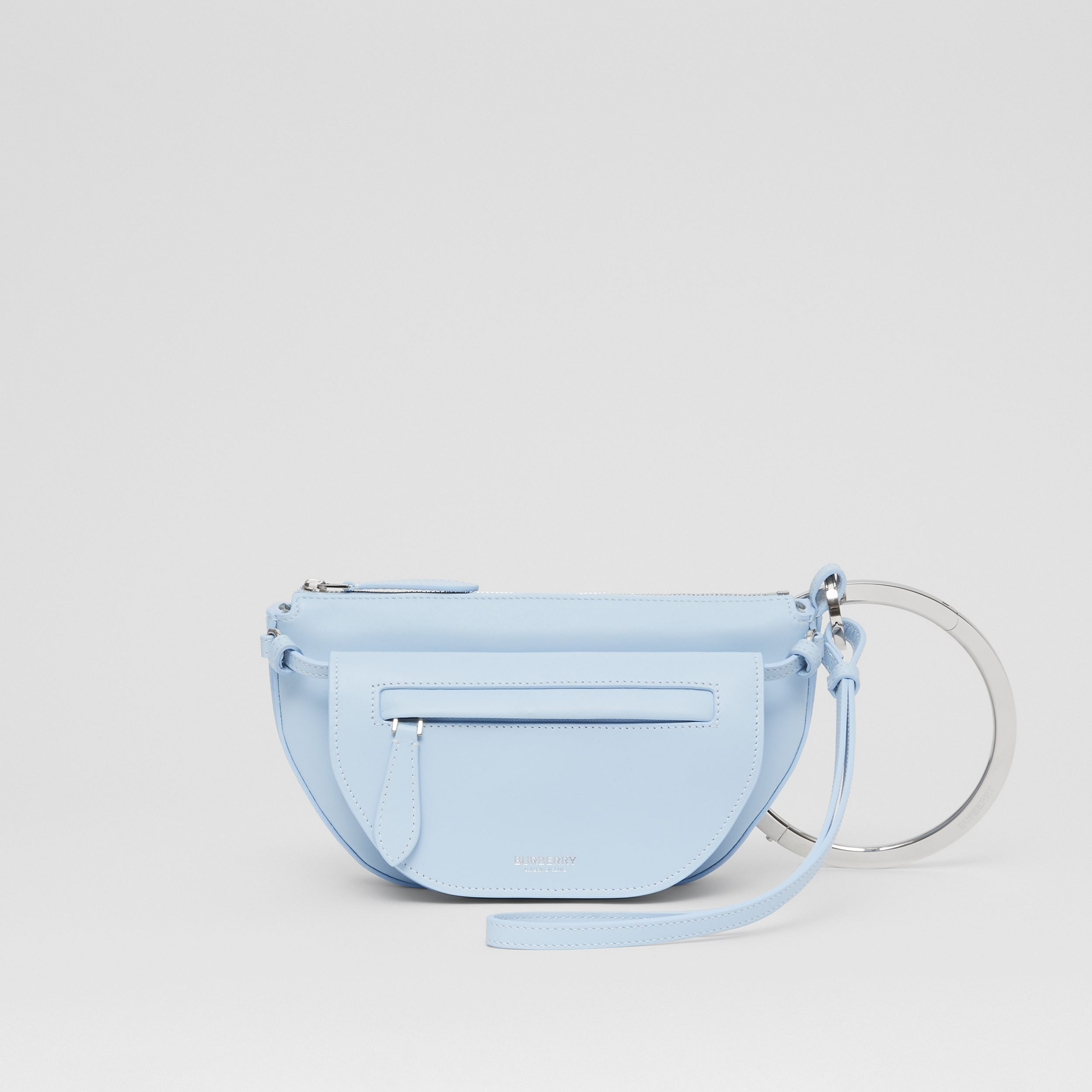Mini Leather Double Olympia Bag in Pale Blue - Women | Burberry - 1