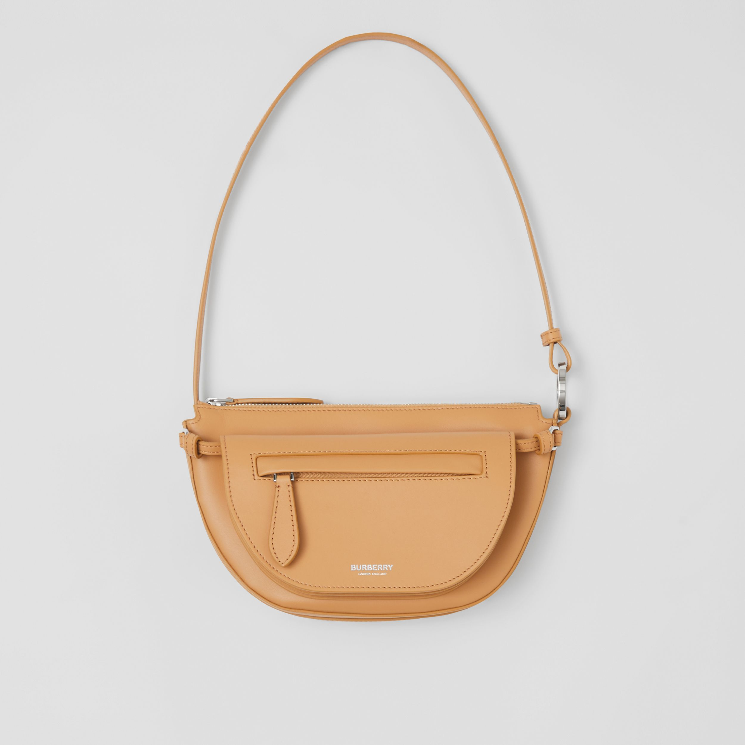 Mini Leather Double Olympia Bag in Warm Sand - Women | Burberry - 1
