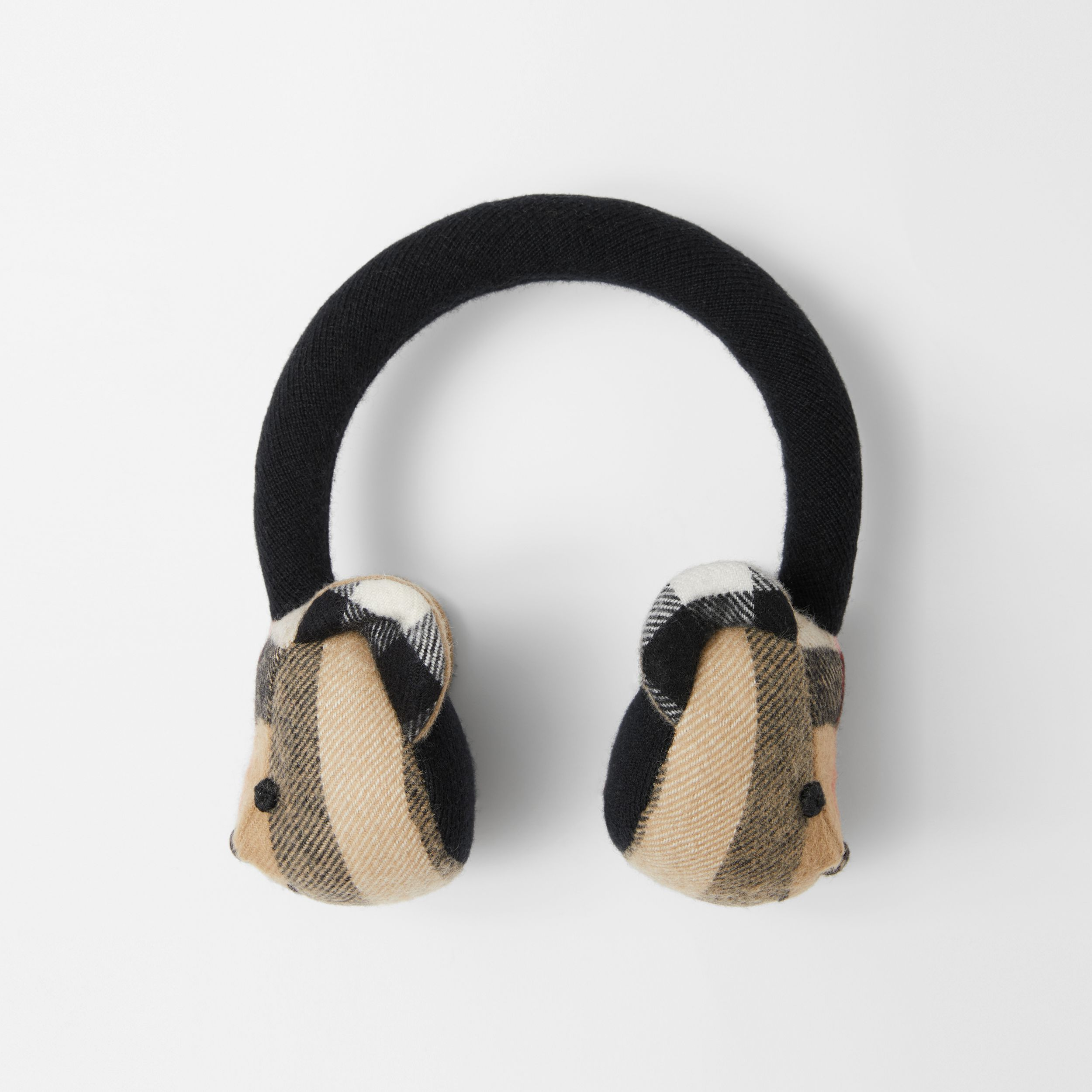 Thomas Bear Cashmere Earmuffs in Archive Beige - Children | Burberry - 1