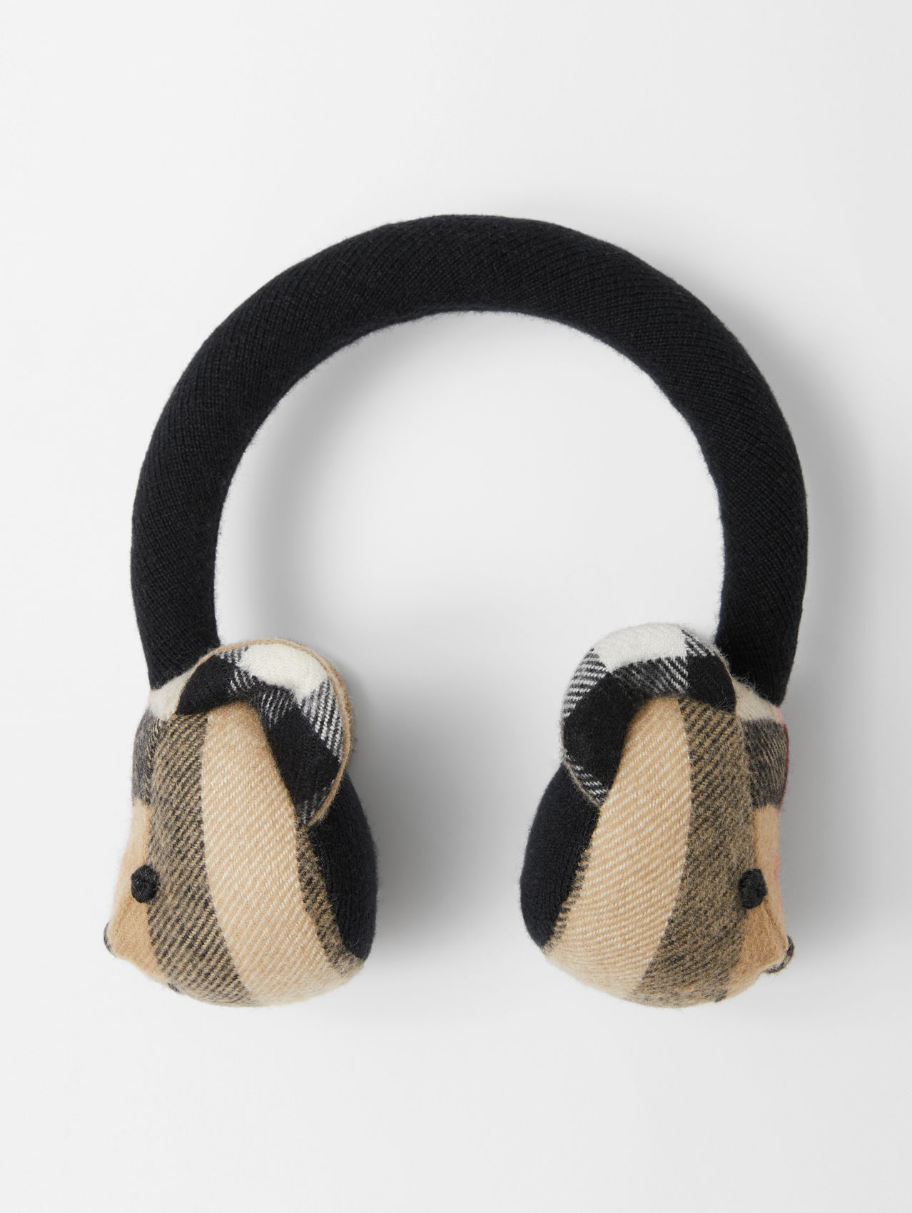 Thomas Bear Cashmere Earmuffs in Archive Beige